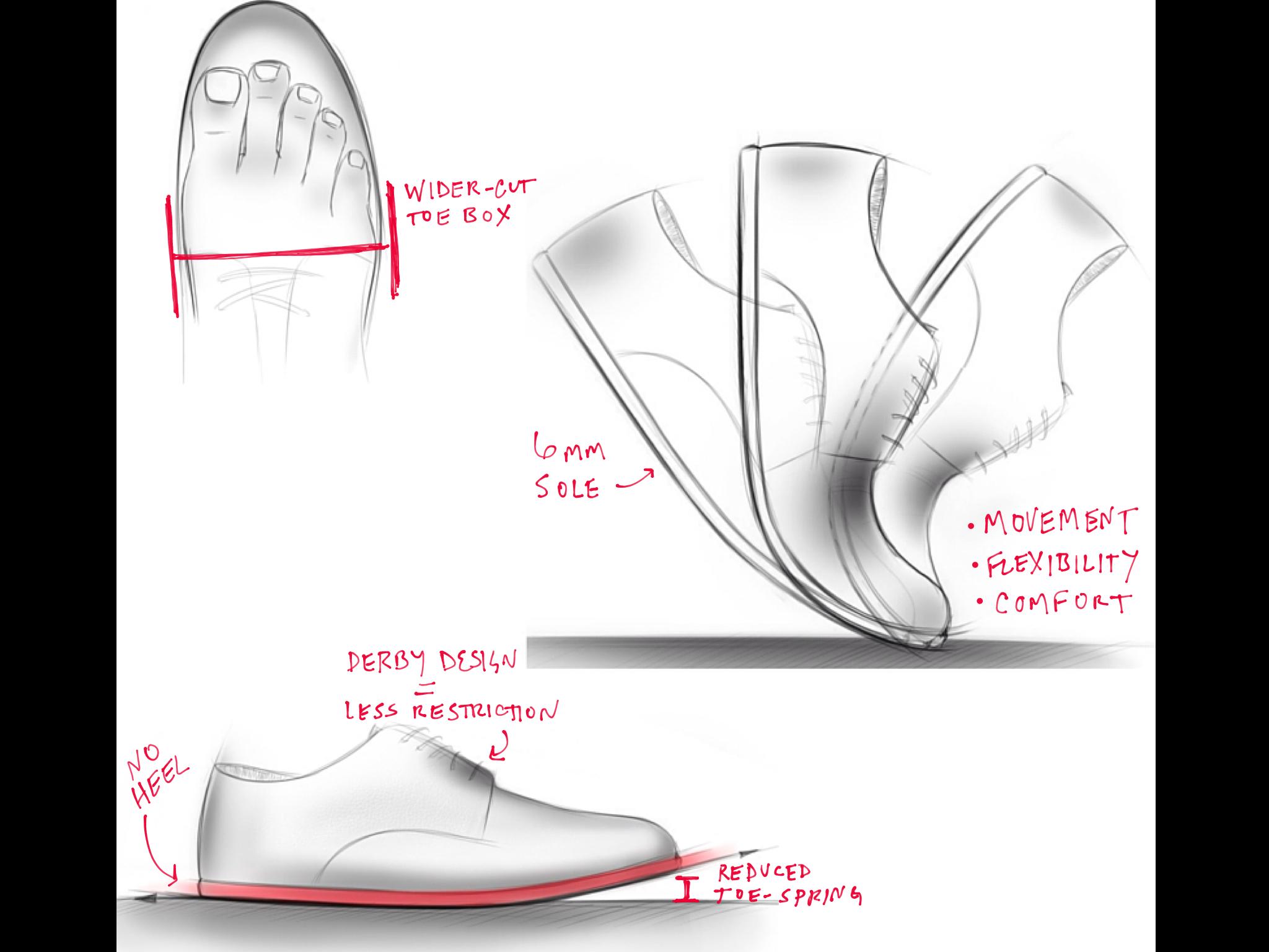 ICANCHU Men's Minimalist Dress Shoes Supernatural Design