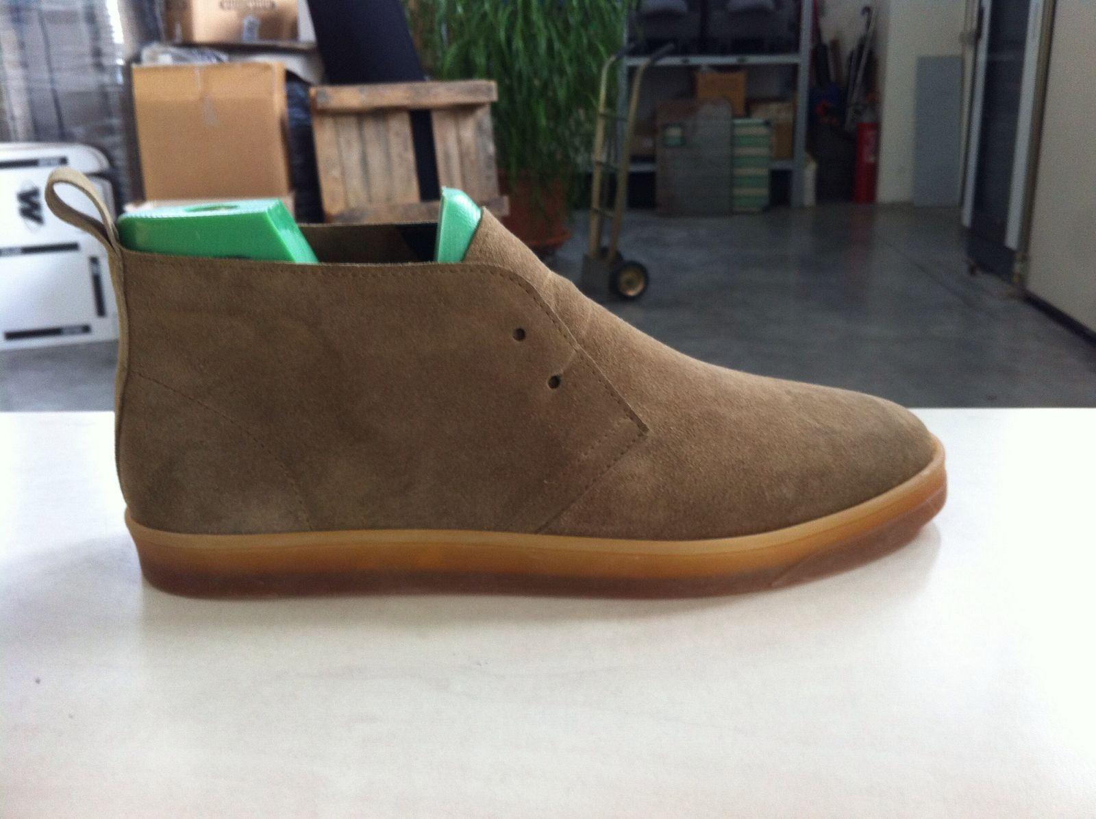 The initial prototype of our  CHUKKA , handmade in Italy.