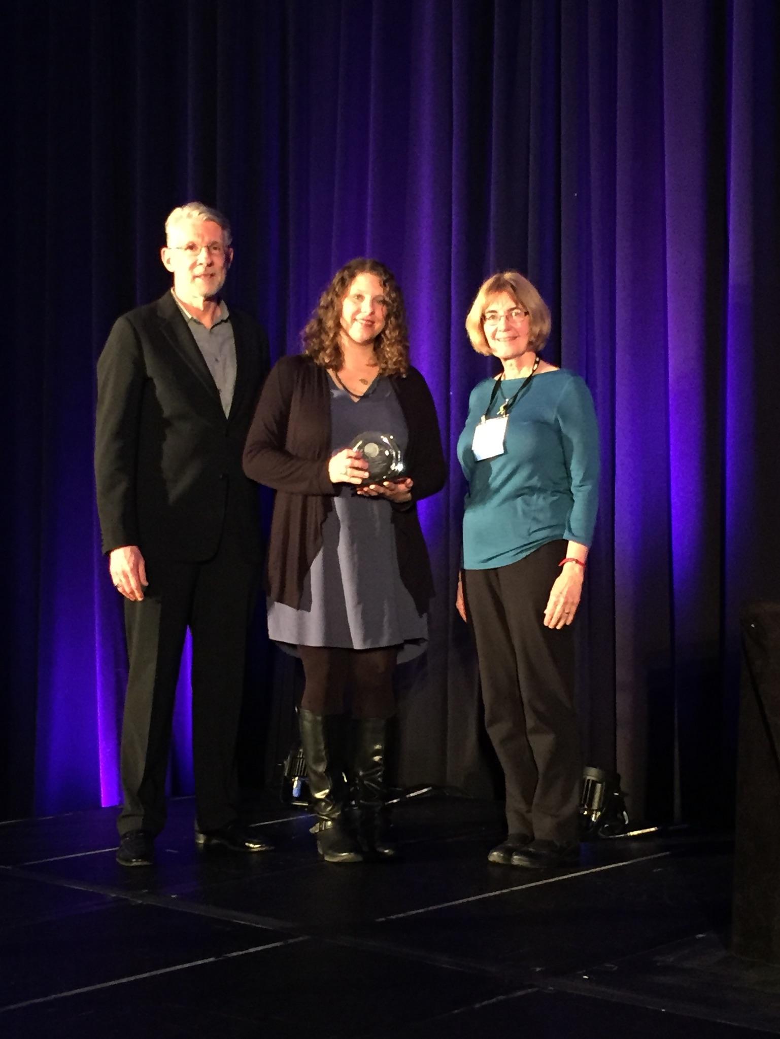 Kate Noon receiving her award