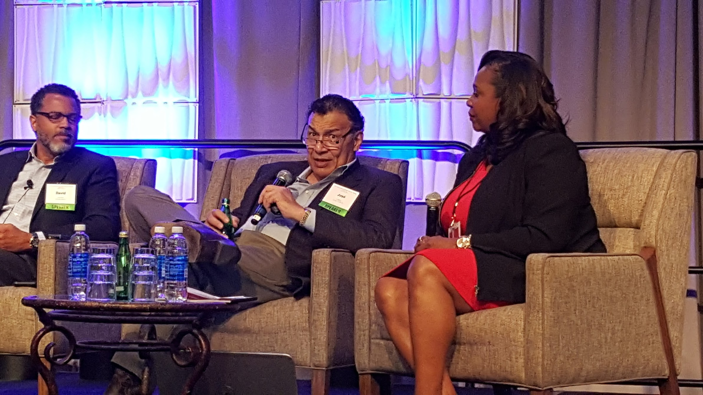 Faciltator David Gibbs with José Rivera and Mary Schultheis (L-R) during Health Equity Session