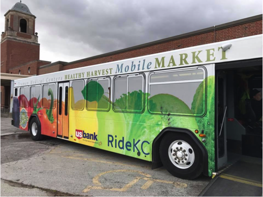 TMC Healthy Harvest Mobile Market delivers low-cost, high-quality fruits and vegetables to underserved communities. Through this project, a new stop was added across from the Linwood YMCA, a key community partner.