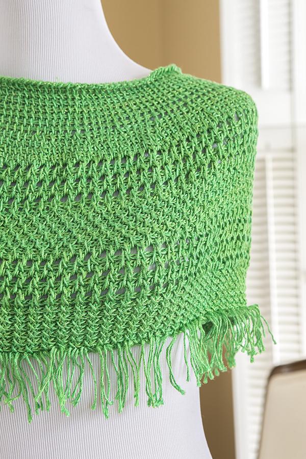 Green Fields Capelet from Crochet Cowls