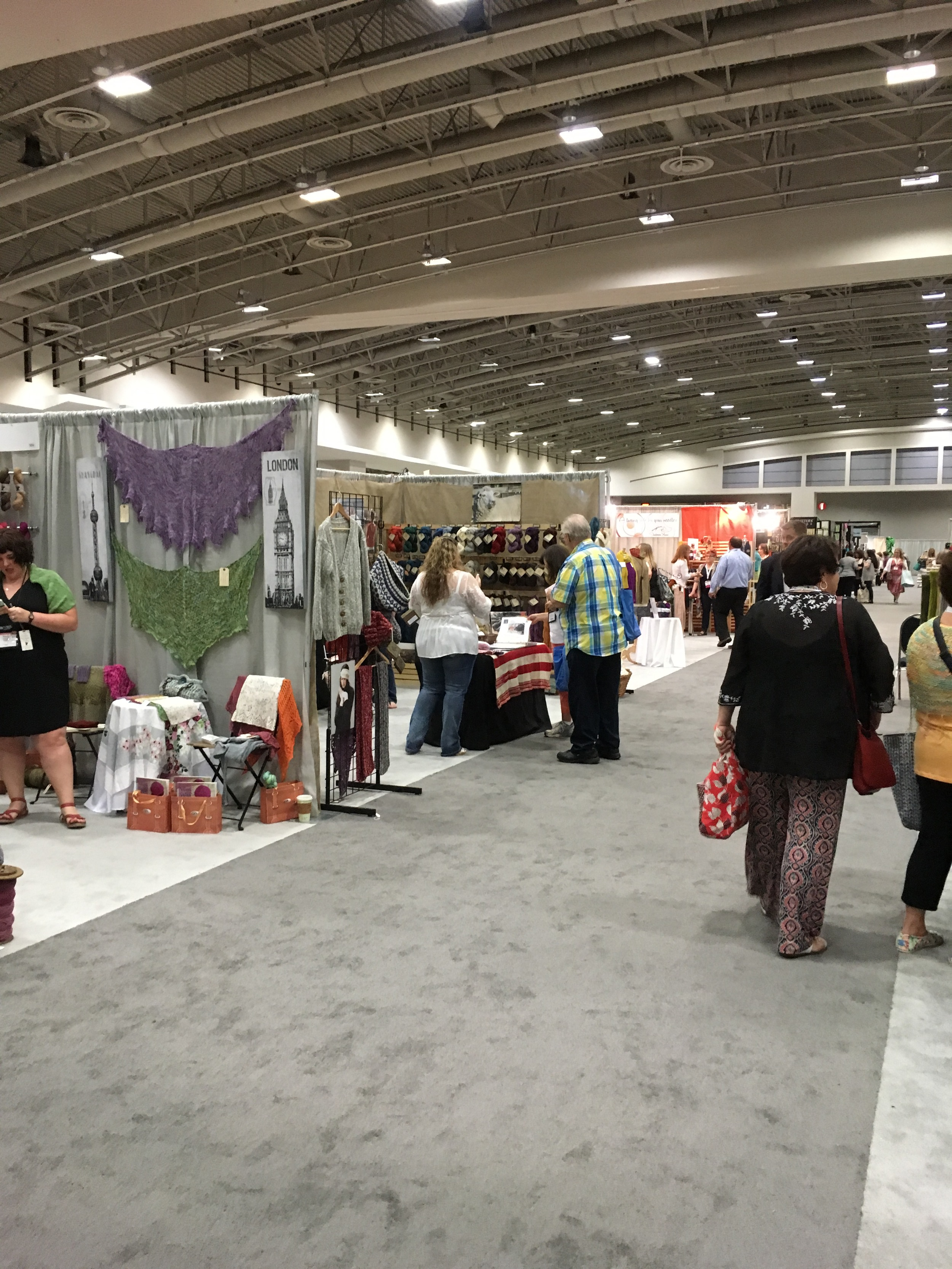 One of the aisles at the show