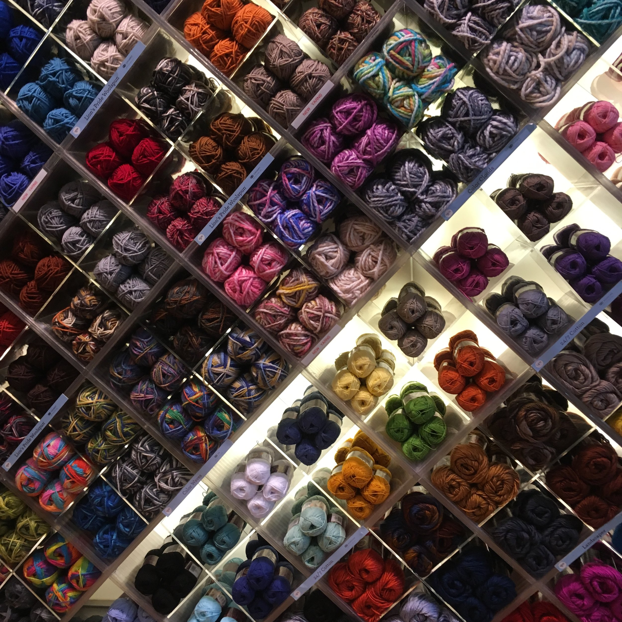 The picture doesn't do justice to the yarn display.