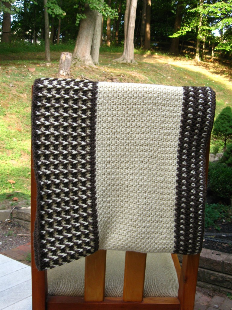 Fishermen's Wool Wrap, Draped on Chair Back (Medium).JPG
