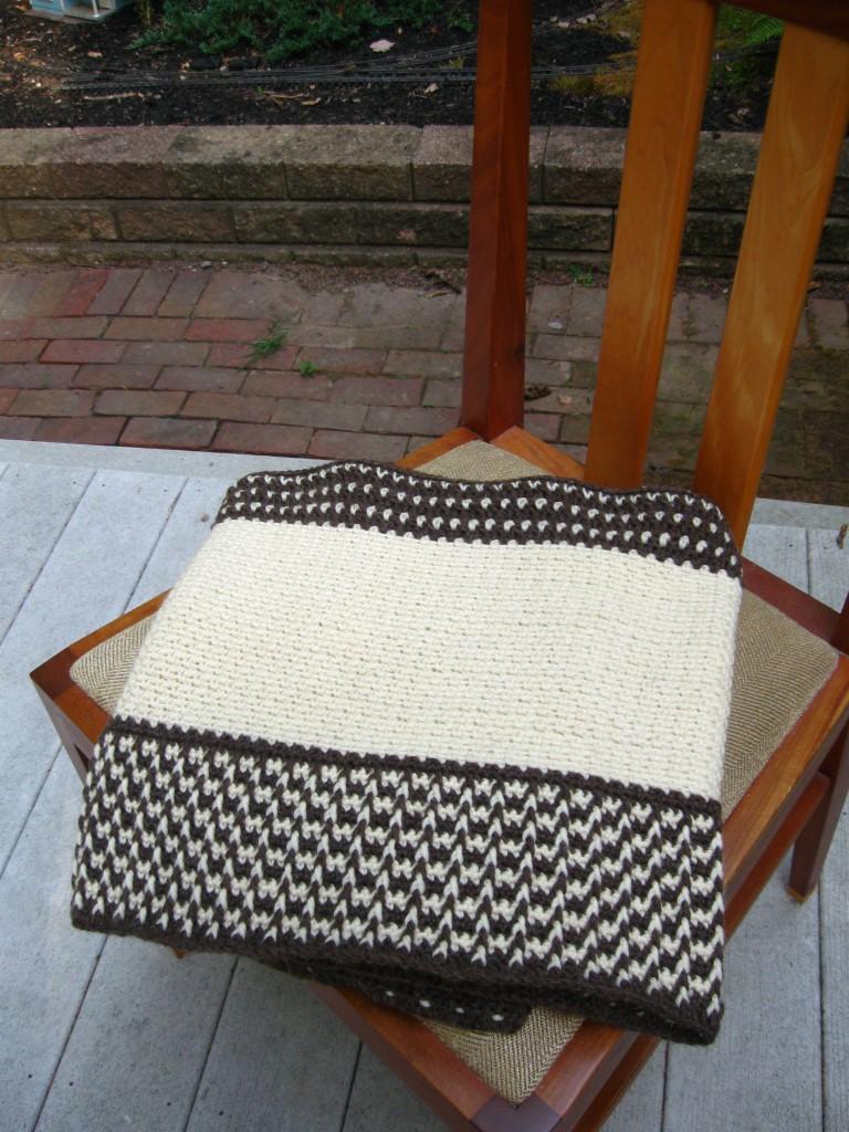 Fishermen's Wool Wrap, Folded on Chair Seat (Medium).JPG