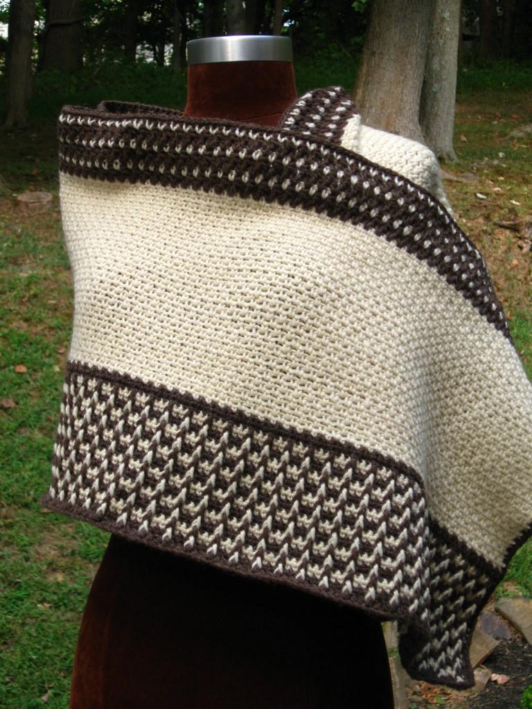 Fishermen's Wool Wrap, Over Shoulder (Medium).JPG