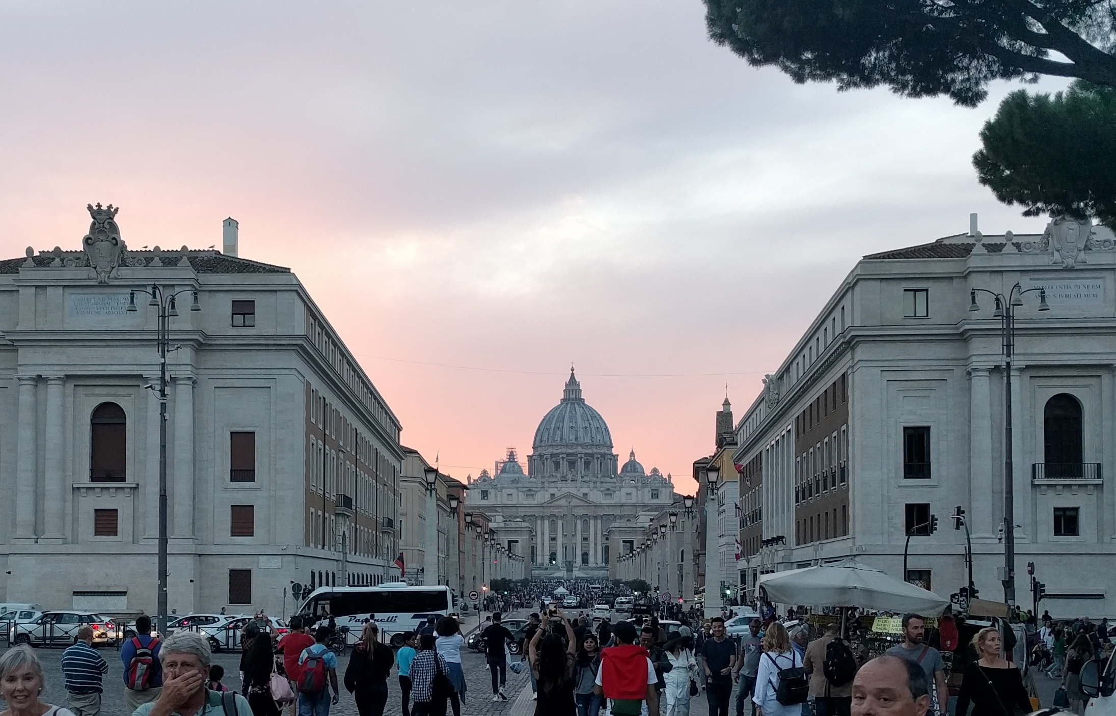 St. Peter's at sunset