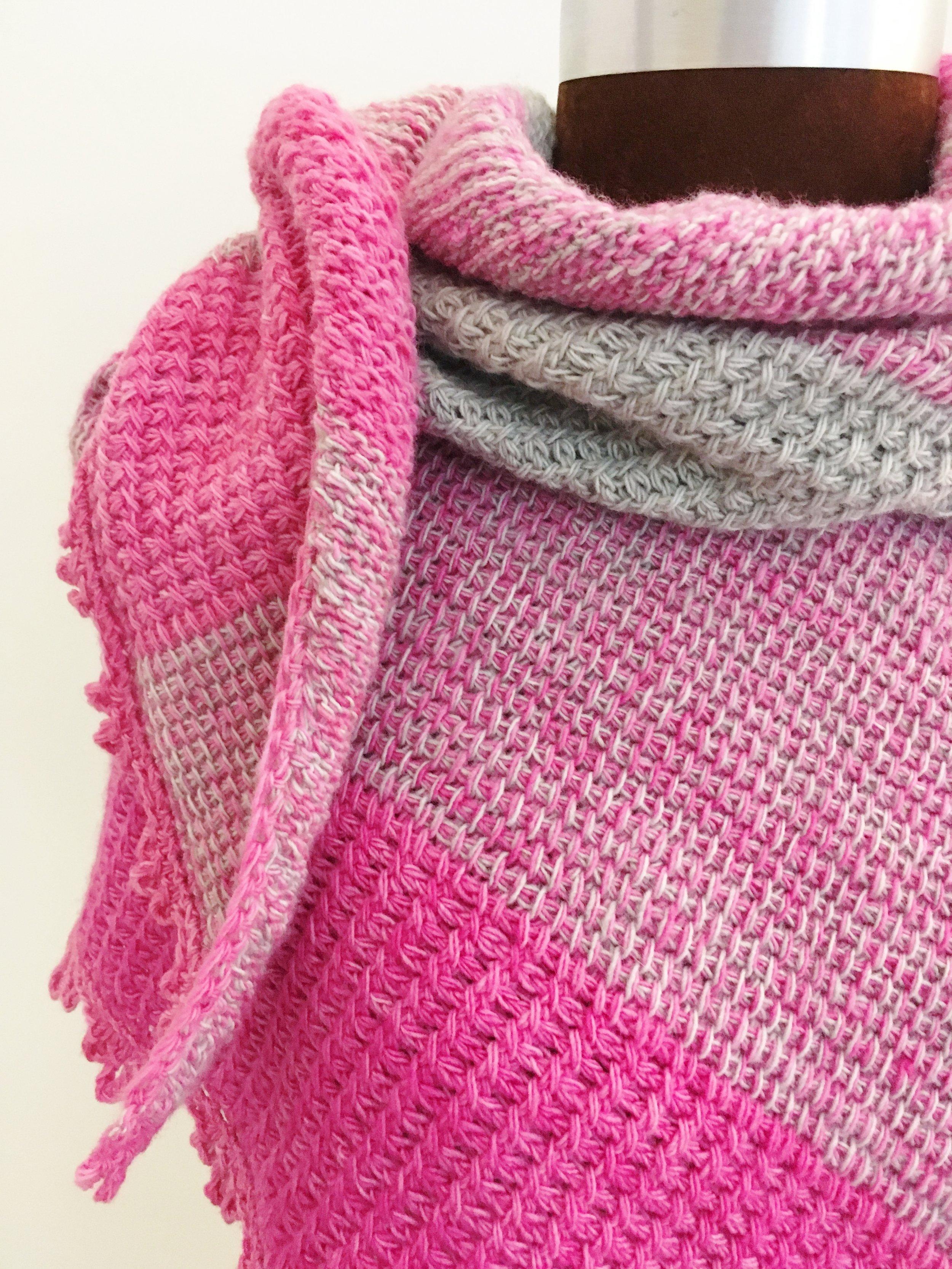 Pink & Grey Shawl