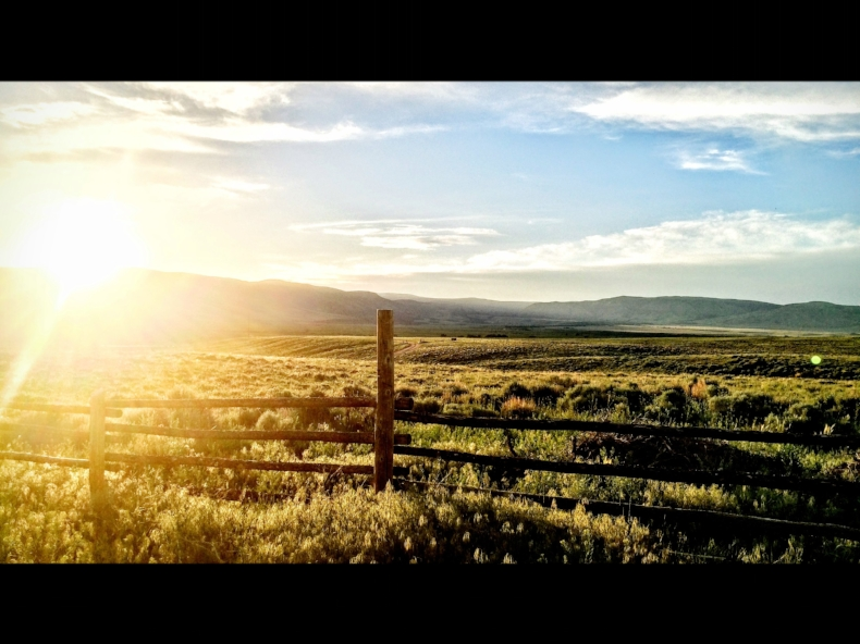 The actual, real-life ranch, as captured by Gina. So lucky.