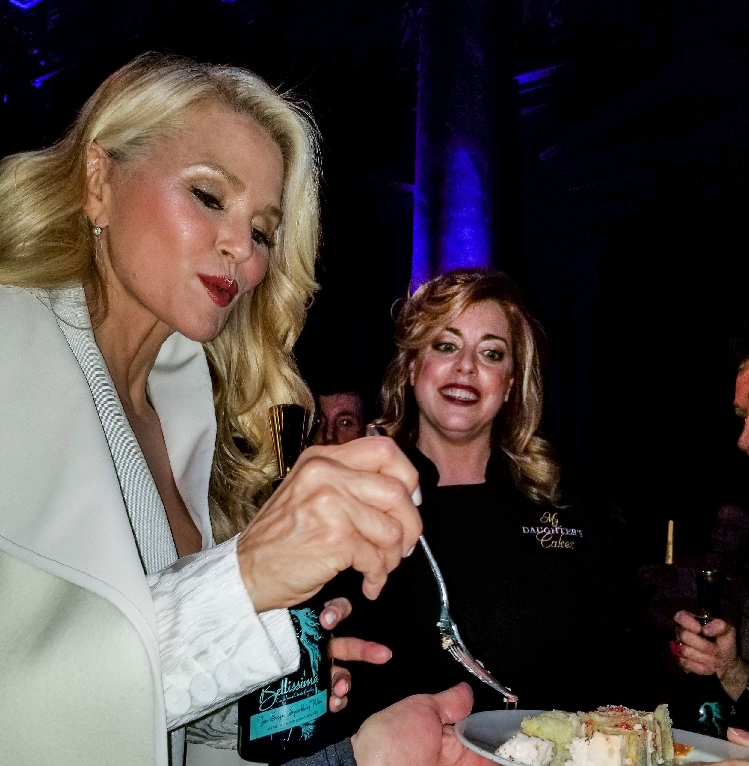 Christie Brinkley Sampling A Cake by My Daughter's Cakes