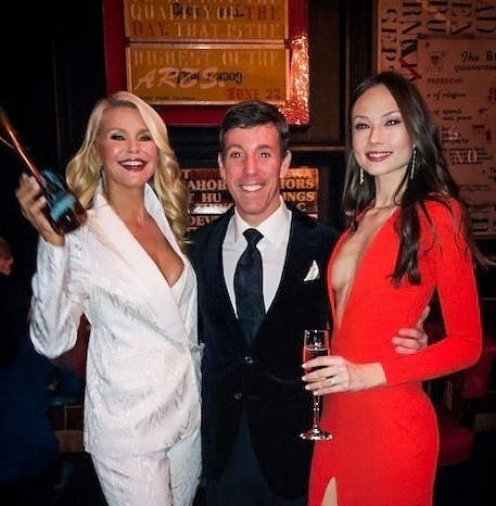Christie, Steve Sendor   and Markéta Kazdová Photographed in The Red Room