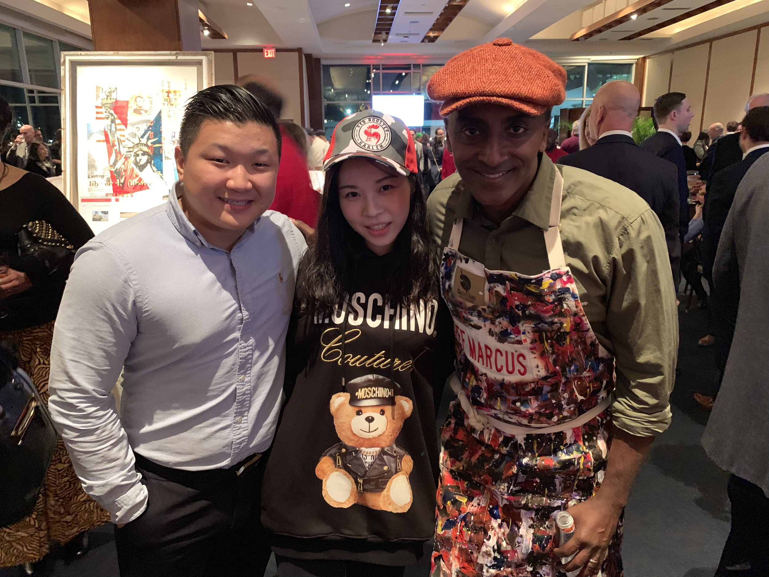 Jason (left), Me (middle), and Chef Marcus Samuelsson (right)