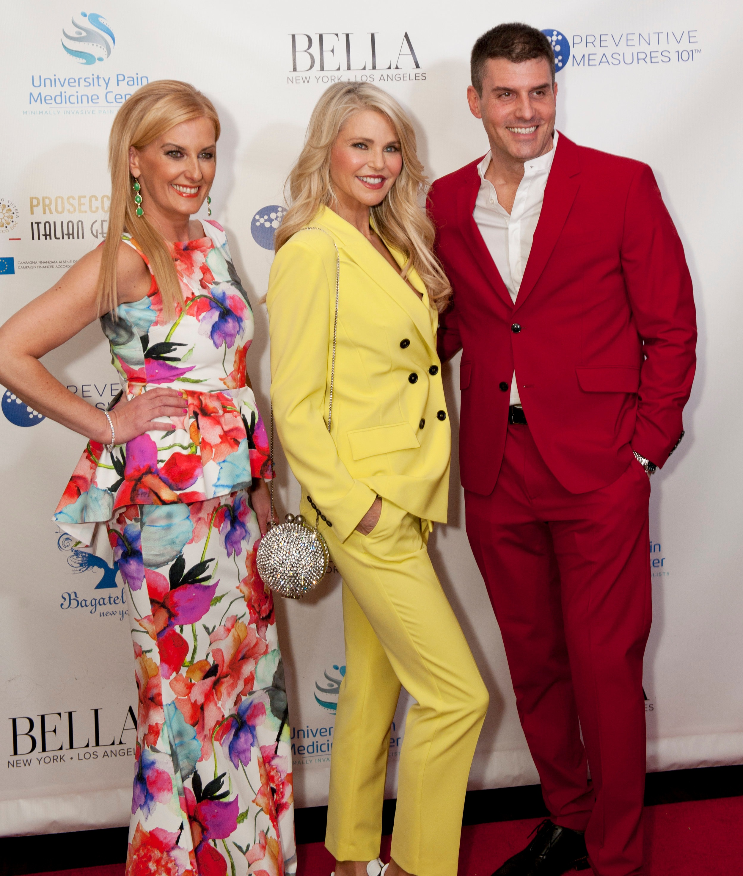 Courtenay Hall and Daniel Hall with Christie Brinkley