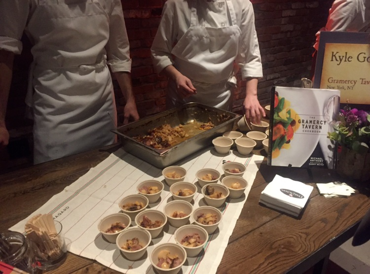 Samples of cassoulet made by Gramercy Tavern's Kyle Goldstein.