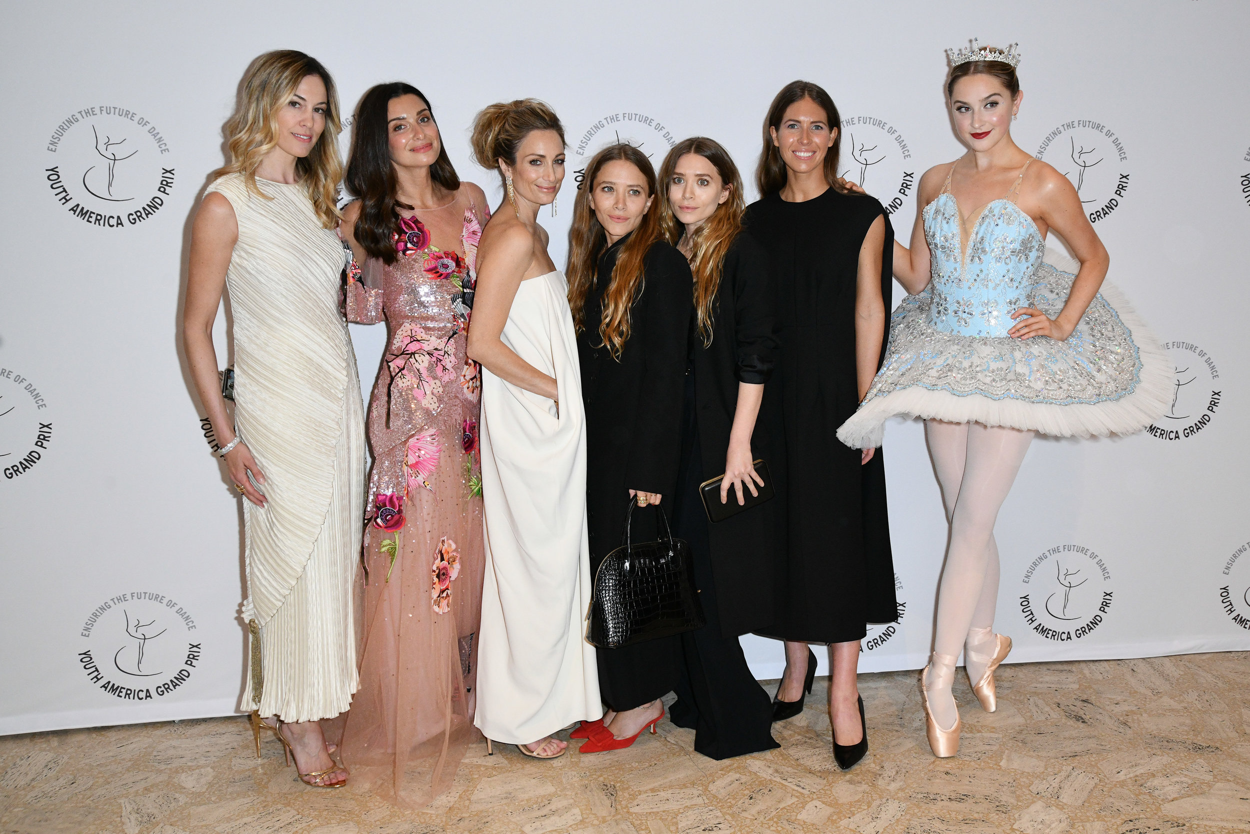 Lesley Thompson Vecsler, Candice Miller, Marcella Guarino, Mary-Kate Olsen, Ashley Olsen, Colby Mugrabi, YAGP Participant Christy Lyn.jpg