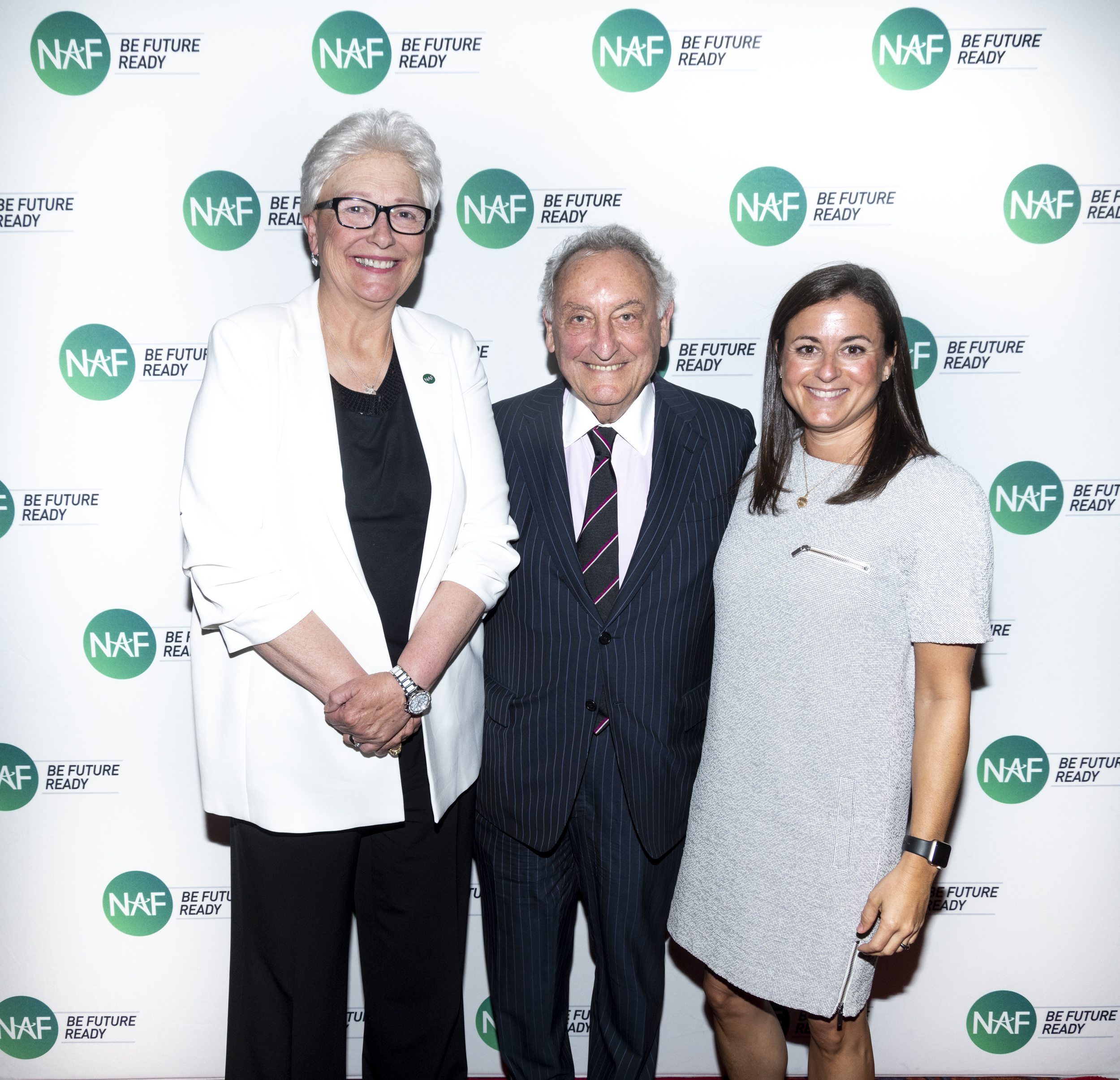 Chief Executive Officer of NAF, JD Hoye, Founder and Chairman of NAF, Sandy Weill, and President of NAF, Lisa Dughi