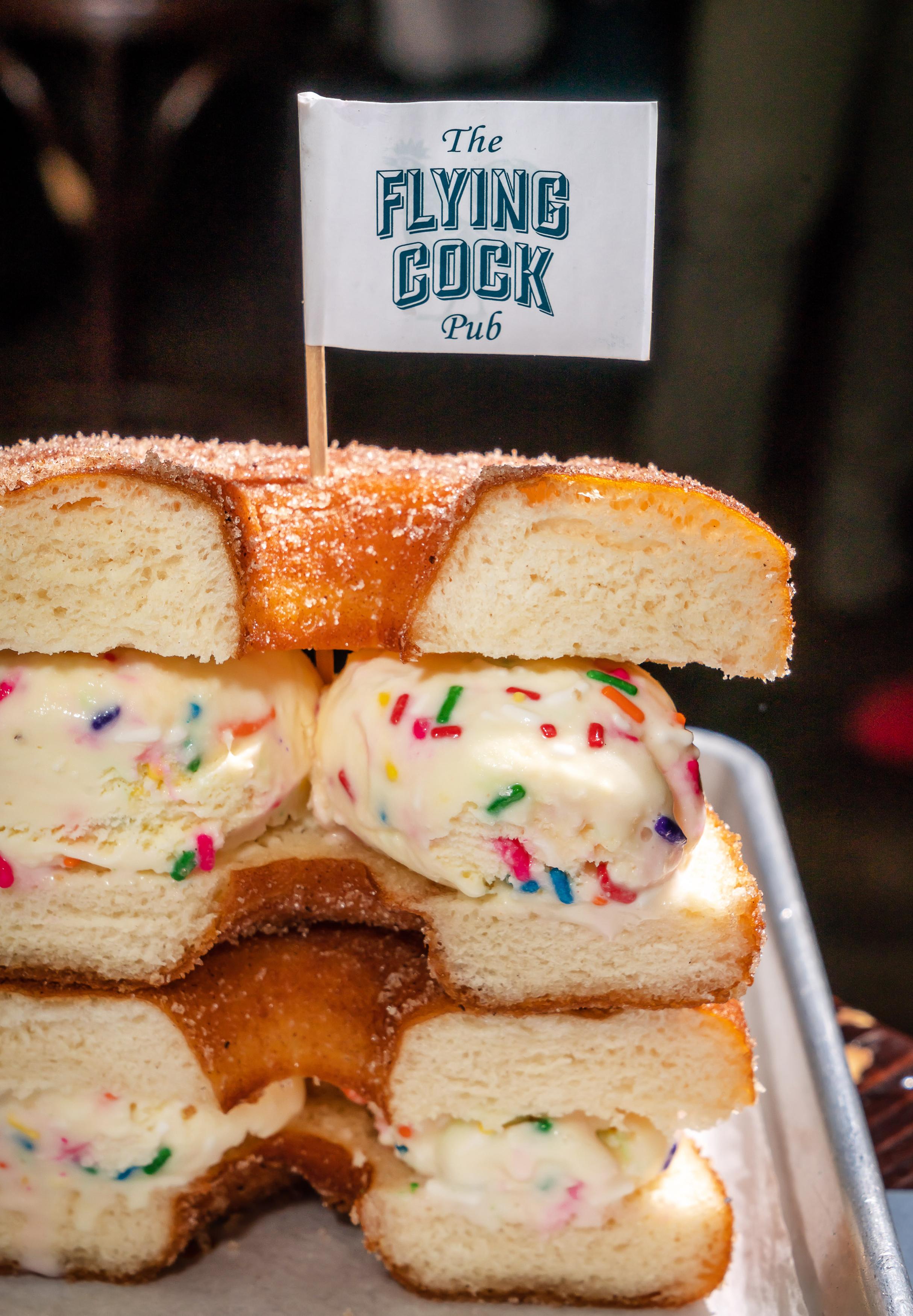 Cinnamon Dough Donut Sprinkles Ice Cream Sandwich .jpg