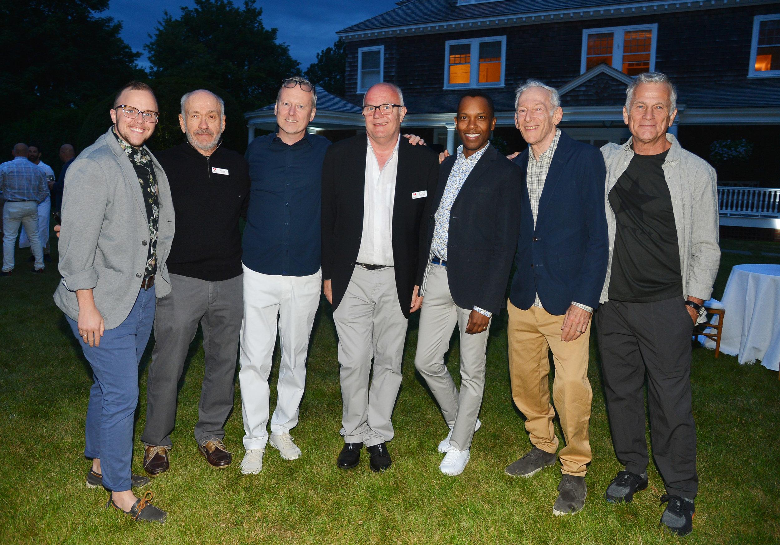 Photo by Patrick McMullan - mSd 2019 - Emmett Findley, Mark Lehrer, David Ludwigson, David Terveen, LaMont Craig, Jon Gilman, Brad Learmonth.jpg