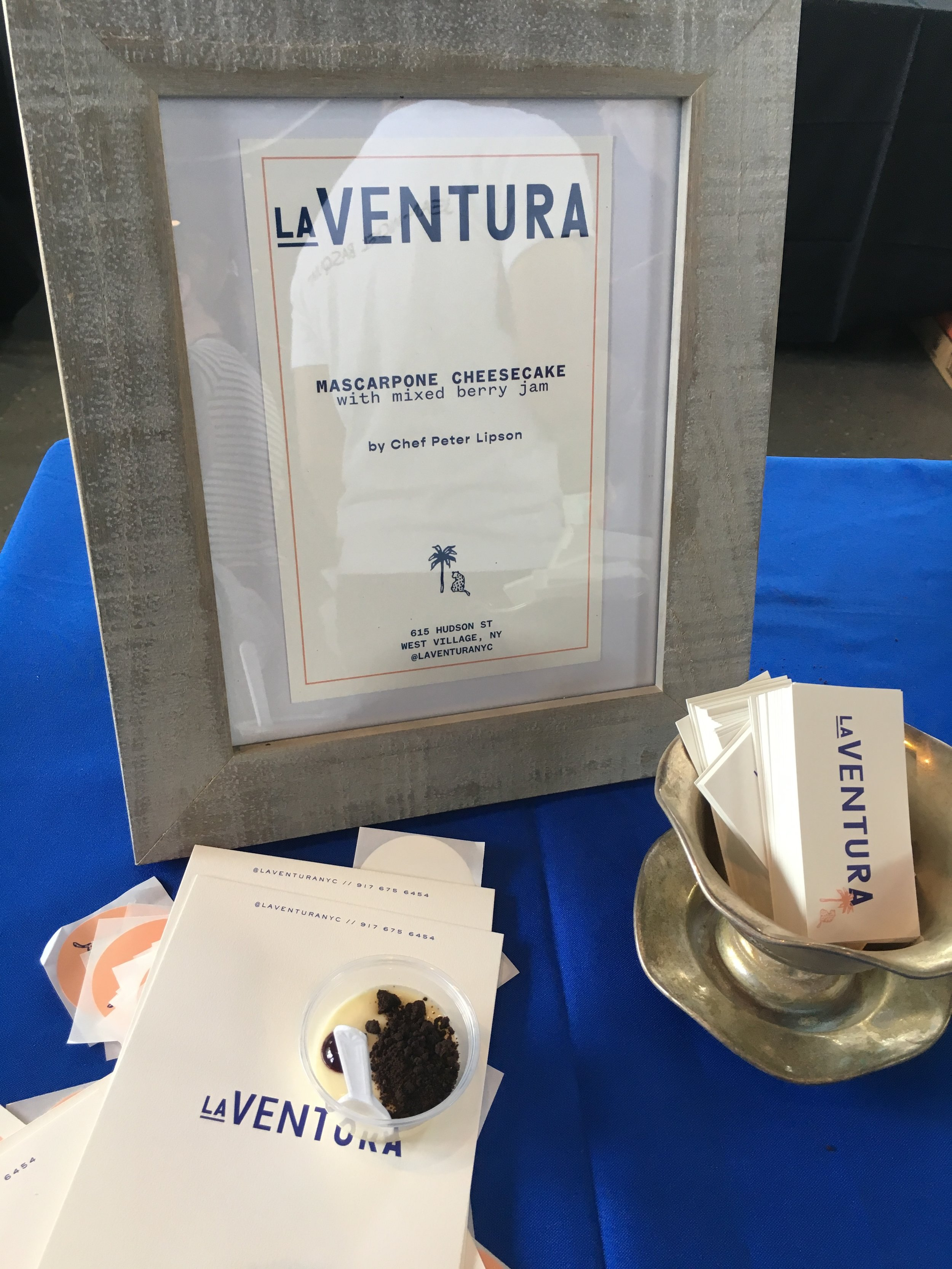 Mascarpone Cheesecake with mixed berry jam by La Ventura