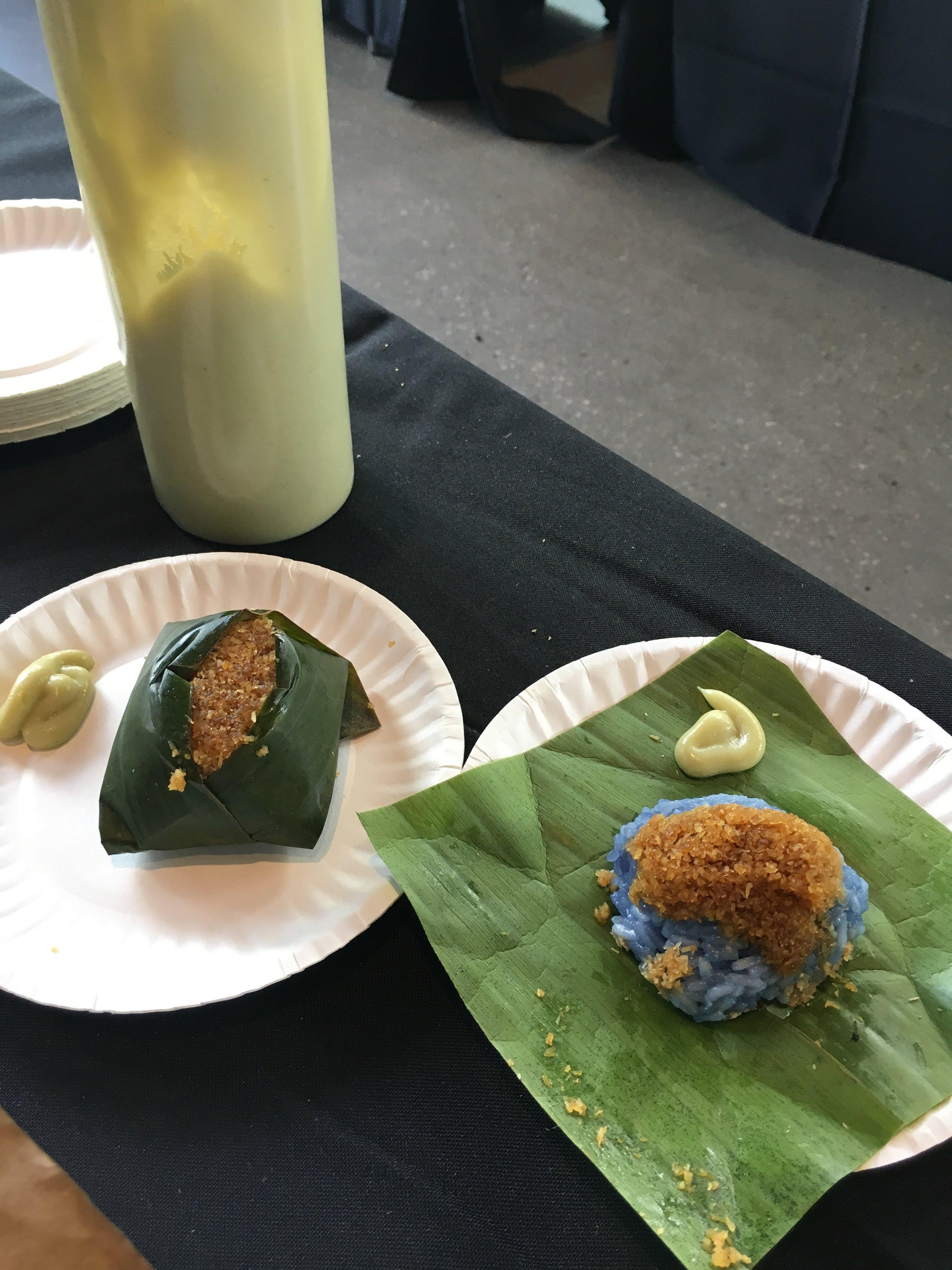 Butterfly Pea Coconut Sticky Rice by Kopitiam