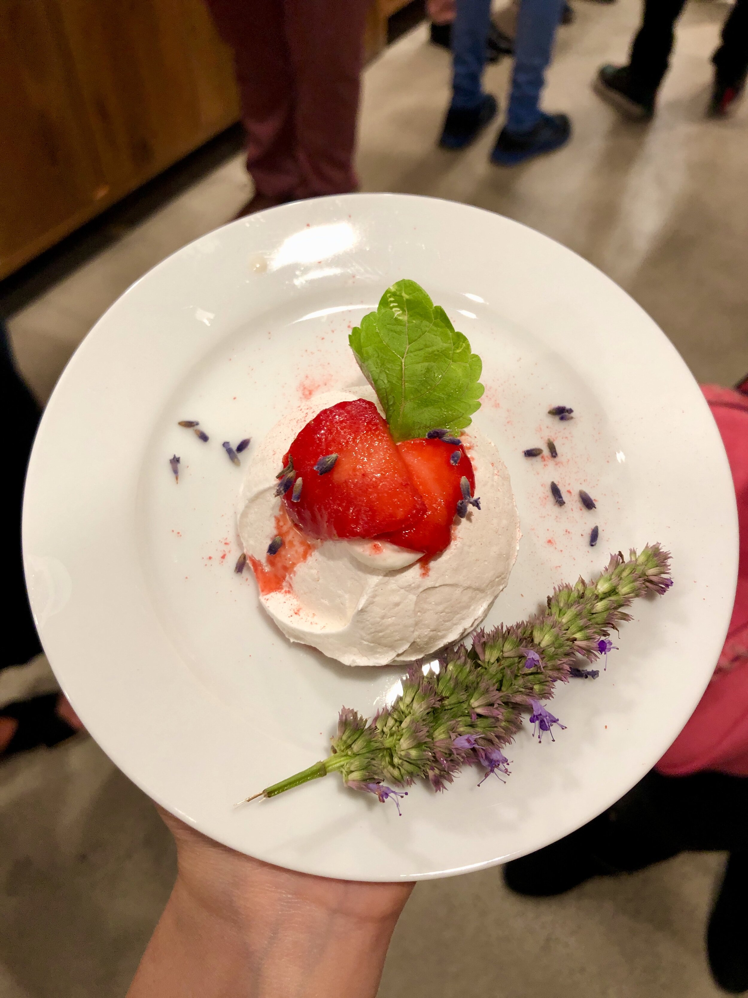 Le Vacherin Fraise by Chef Paola Marocchi, Corporate Pastry Chef for the Tao Group - Cheese used: Fromage Blanc