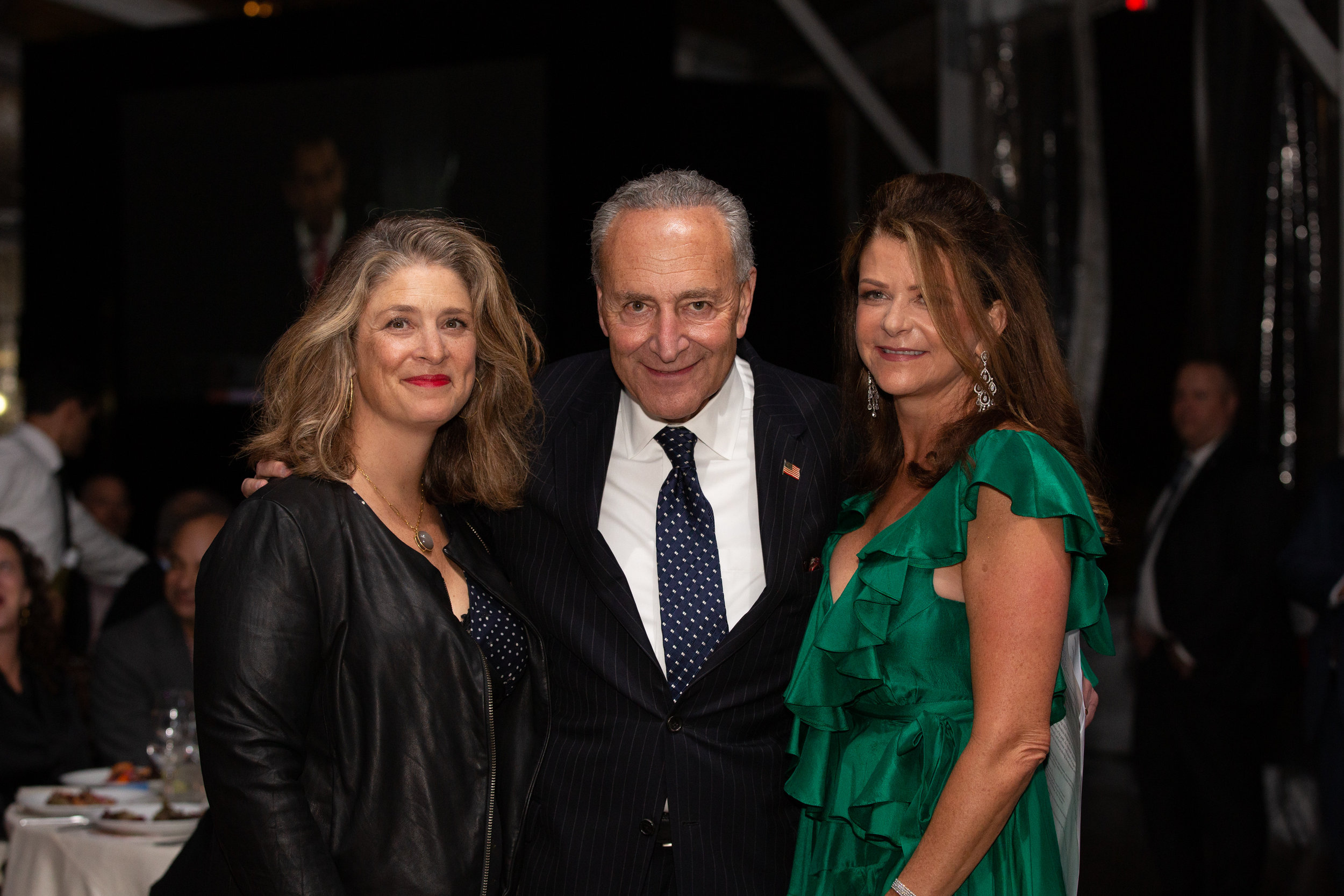 Honoree Alicia Glen, Senator Chuck Schumer, Honoree Mary Anne Gilmartin