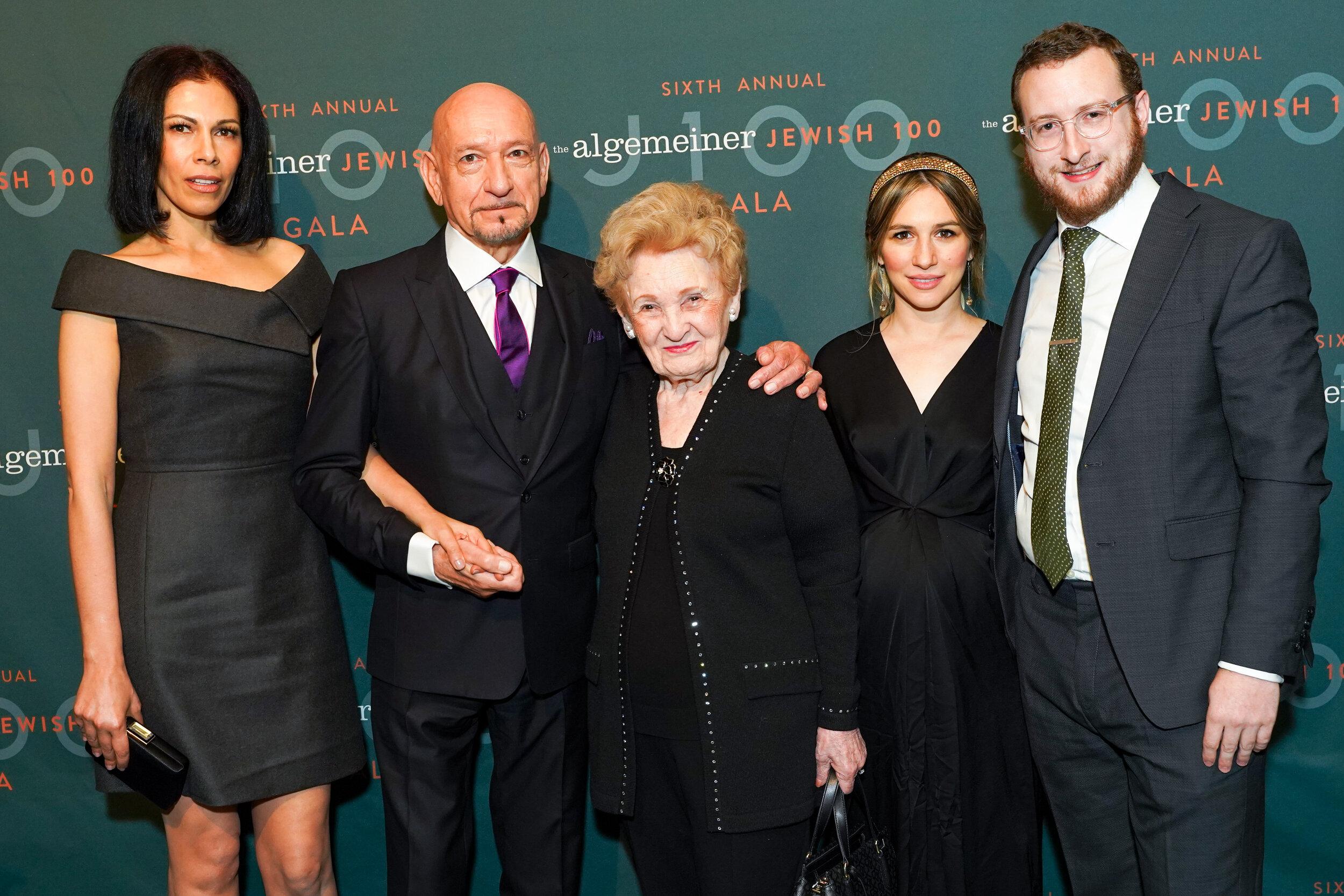 Daniela Lavender, Sir Ben Kingsley, Halina Silber, Mushka Efune and Dovid Efune by PMC_Sean Zanni .jpg