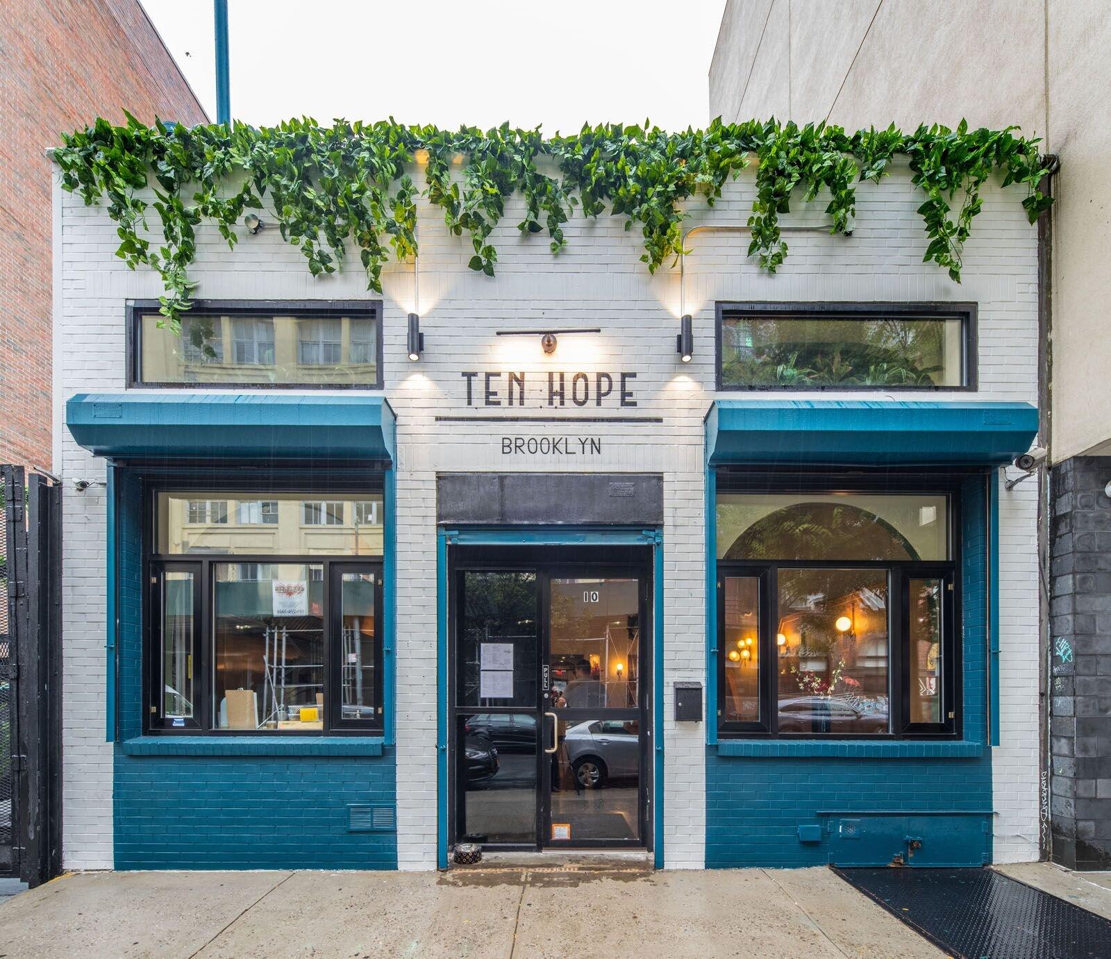 Ten Hope, at  10 Hope Street  in Williamsburg. Photo Credit - Oleg March