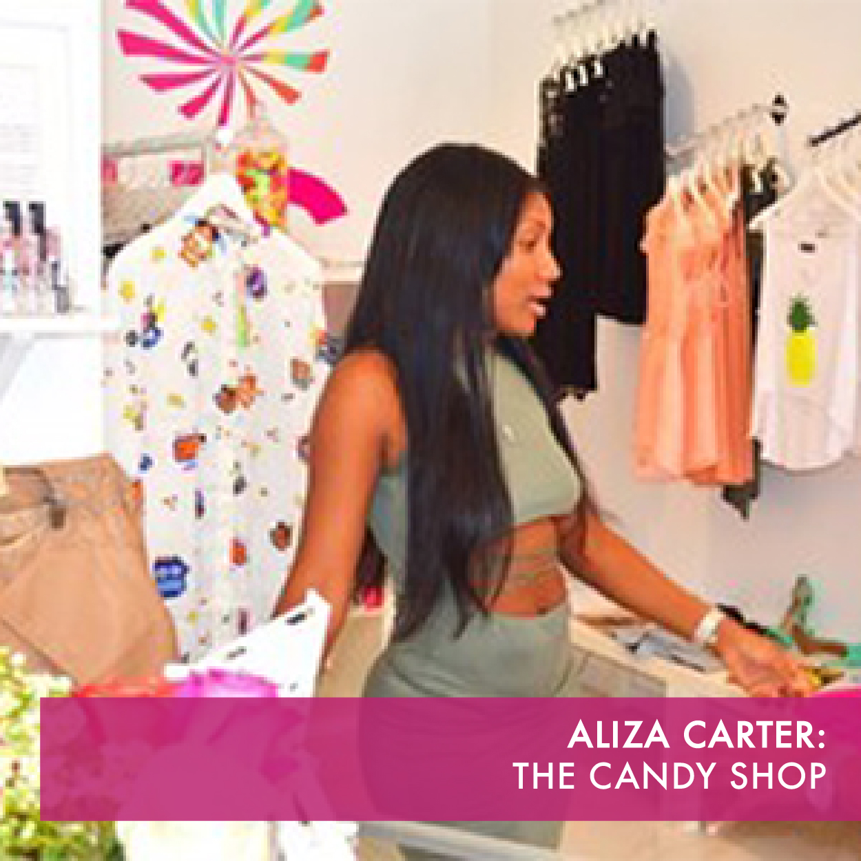THE CANDY SHOP is a whimsical casual boutique of clothing and hair extensions for women who appreciate standing out.