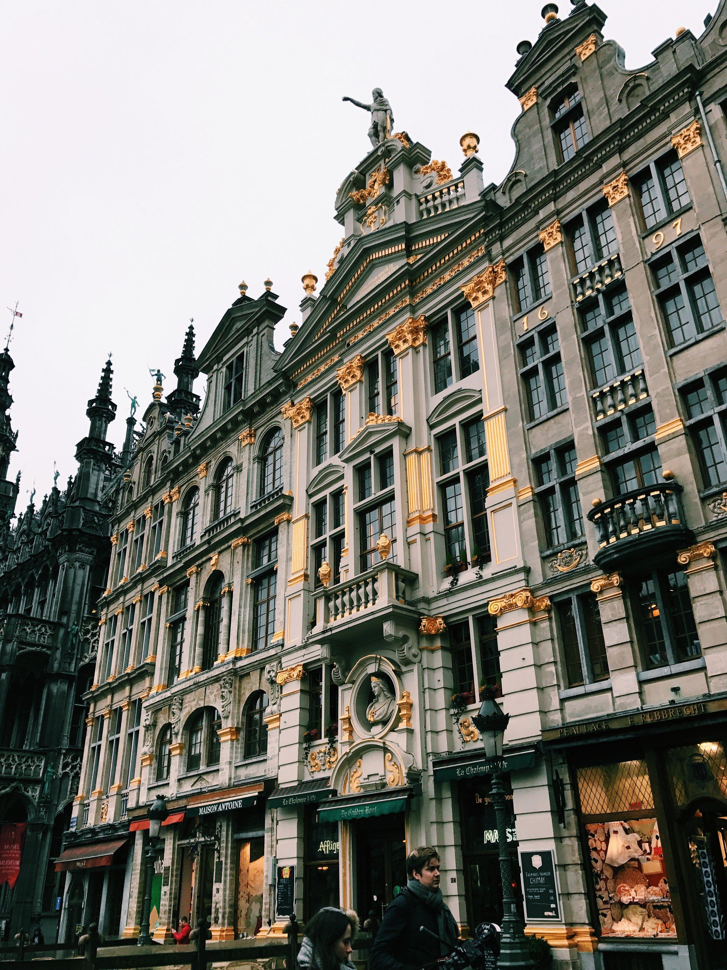 Grote Markt . Brussels, Belgium.