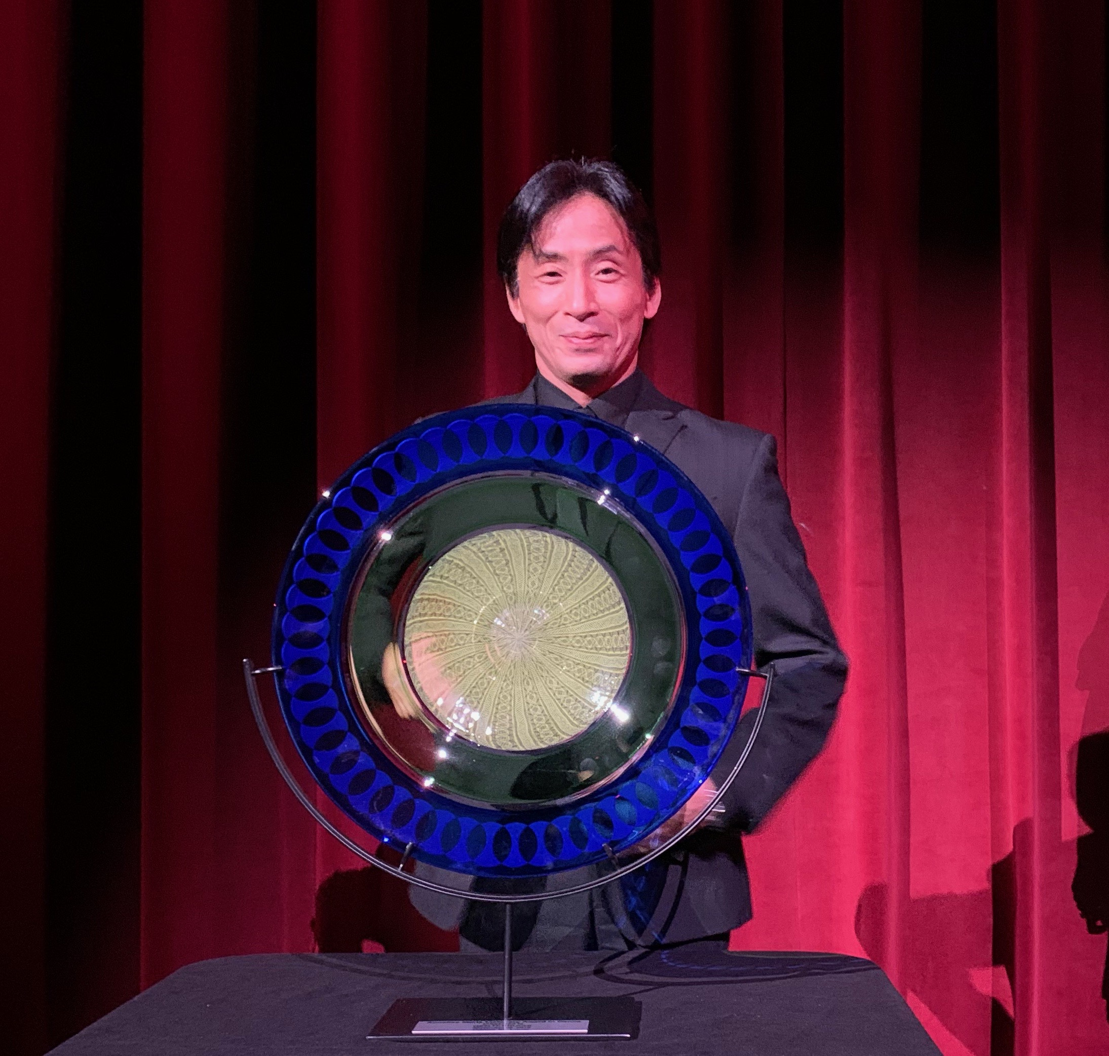 gen horiuchi receiving the 2019 Annelise Mertz Visionary Award in Dance at an evening of ballet stars 2 at the edison theatre, september 28, 2019.