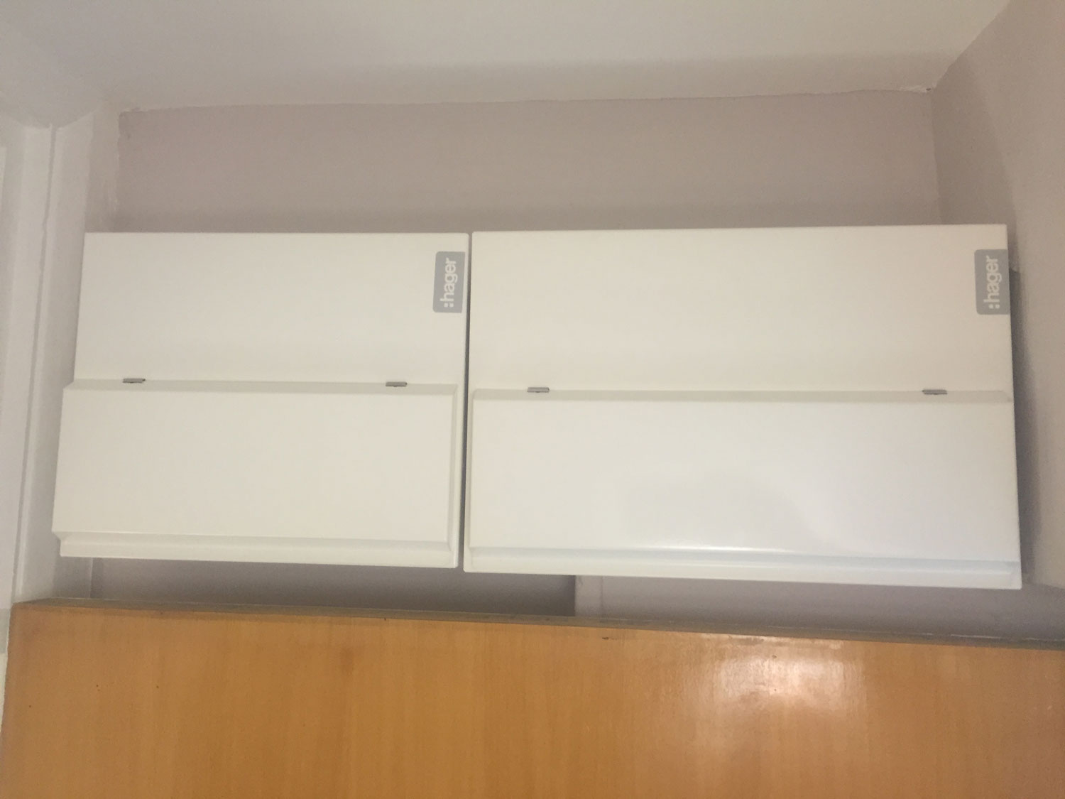 Double consumer unit – after