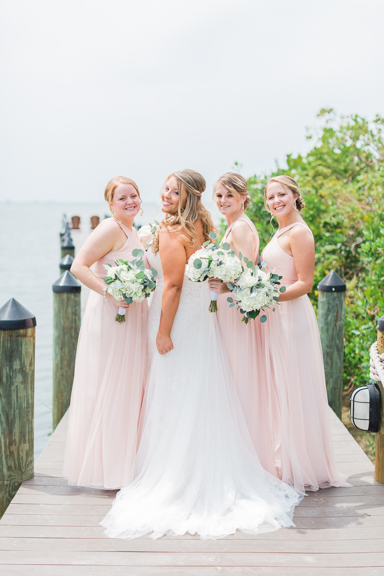 Tampa Film Fine Art Wedding Photographer | Romantic Davis Islands Club Outdoor Wedding