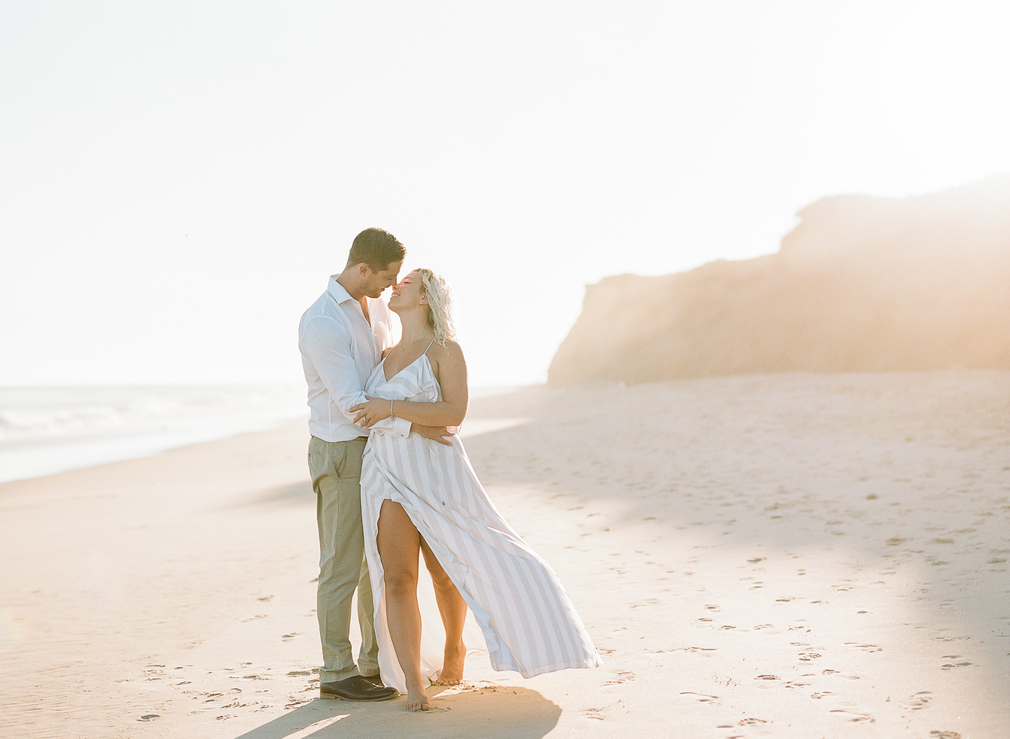 Lauren Galloway Photography   Montauk, New York Sunset Beach Engagement