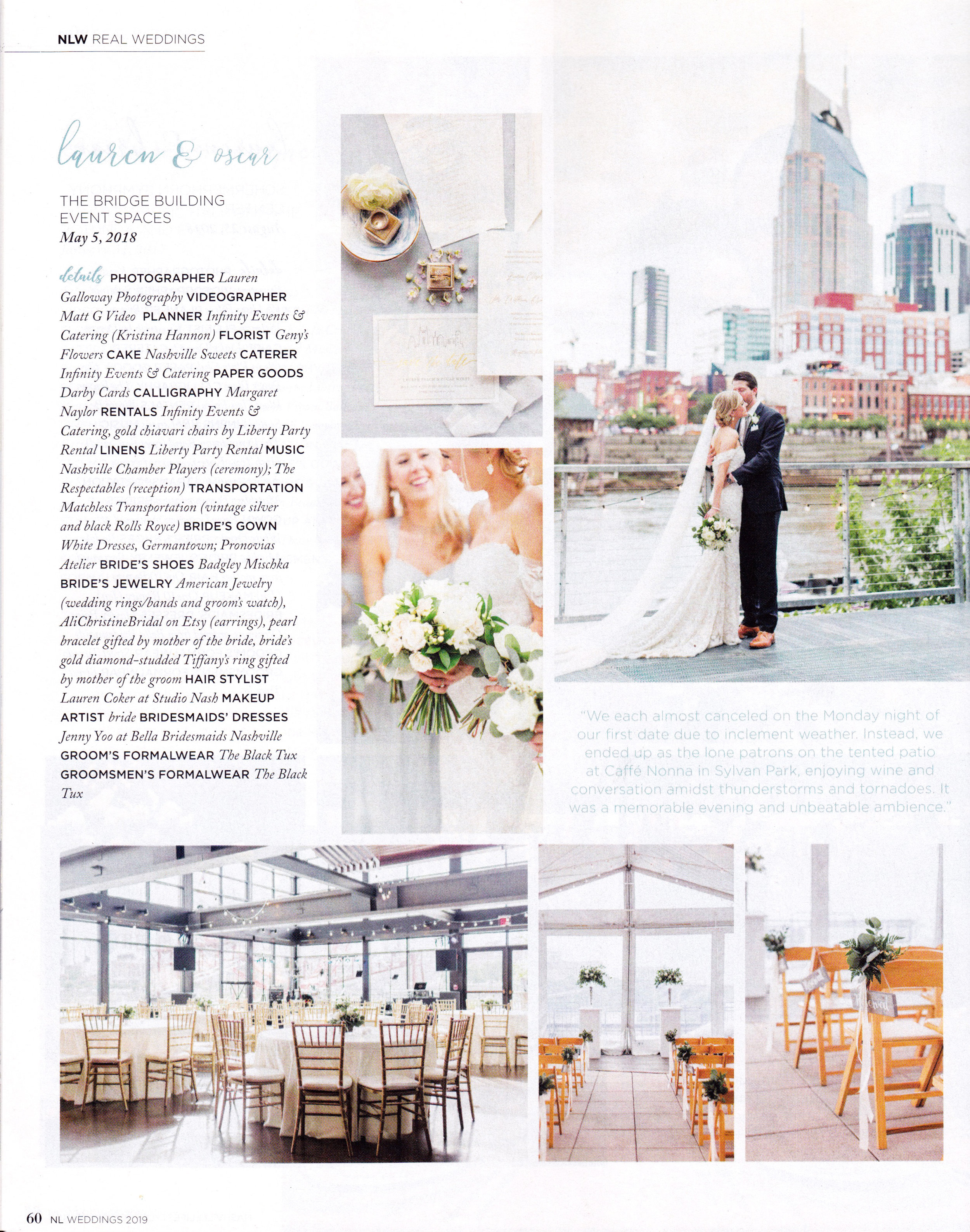 Lauren Gallloway | Published on Nashville Lifestyles Weddings Magazine | Nashville Wedding Photographer
