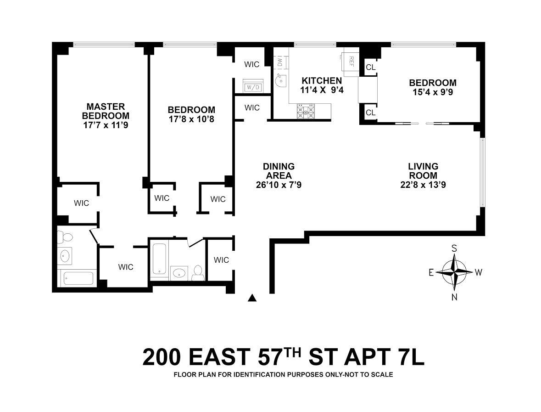 Unit 7L Floor Plan