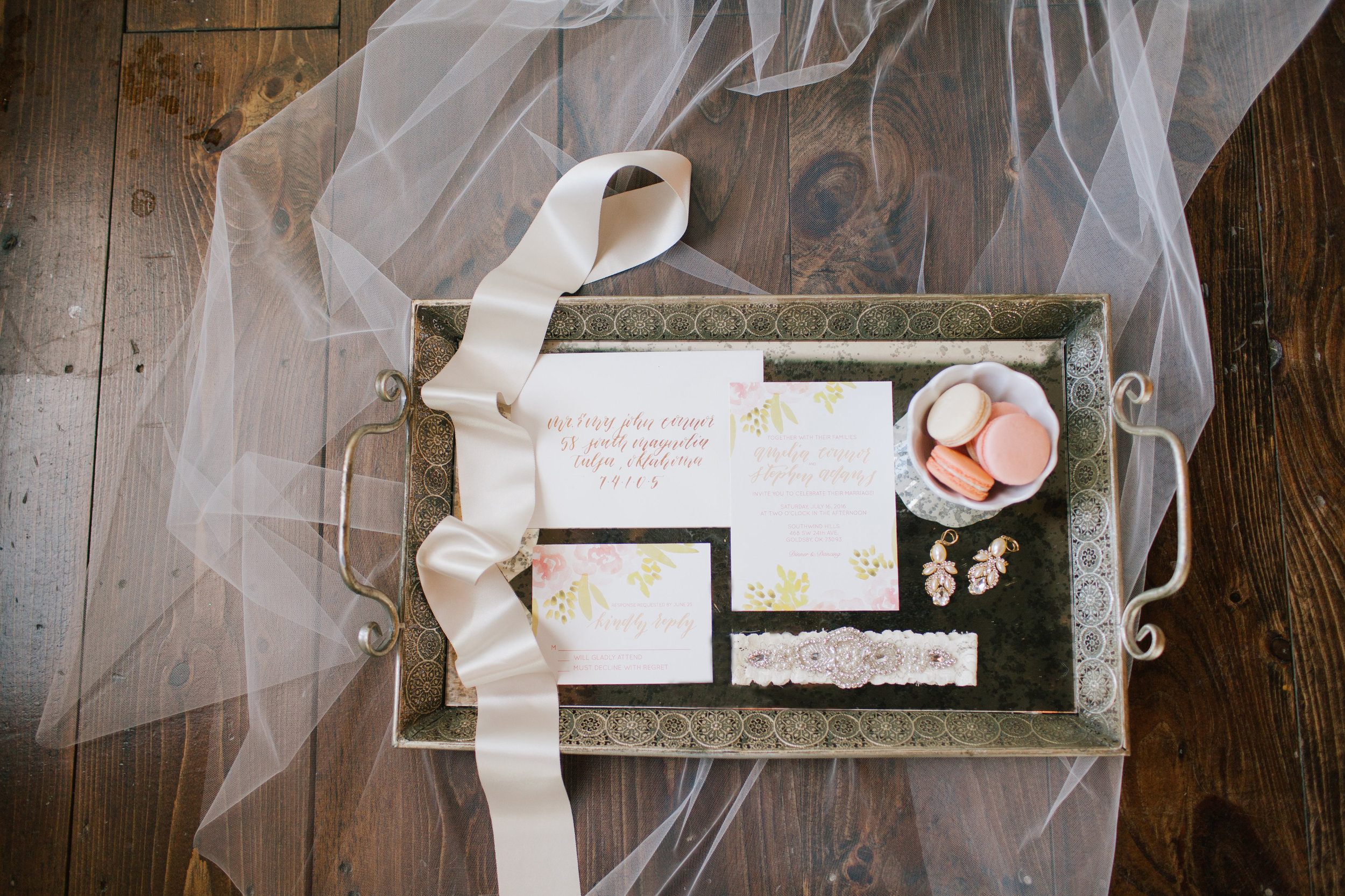 Bliss OKC | Melanie Foster | Sweet Peach Styled Shoot | Wedding Details | Invitation Suite