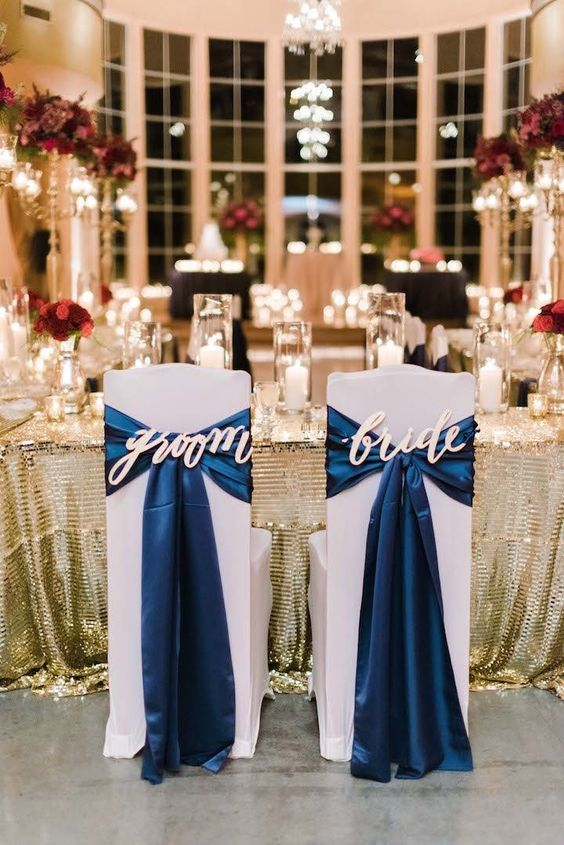 Wedding Reception, Bride and Groom Chairs, Red, White, and Blue Wedding
