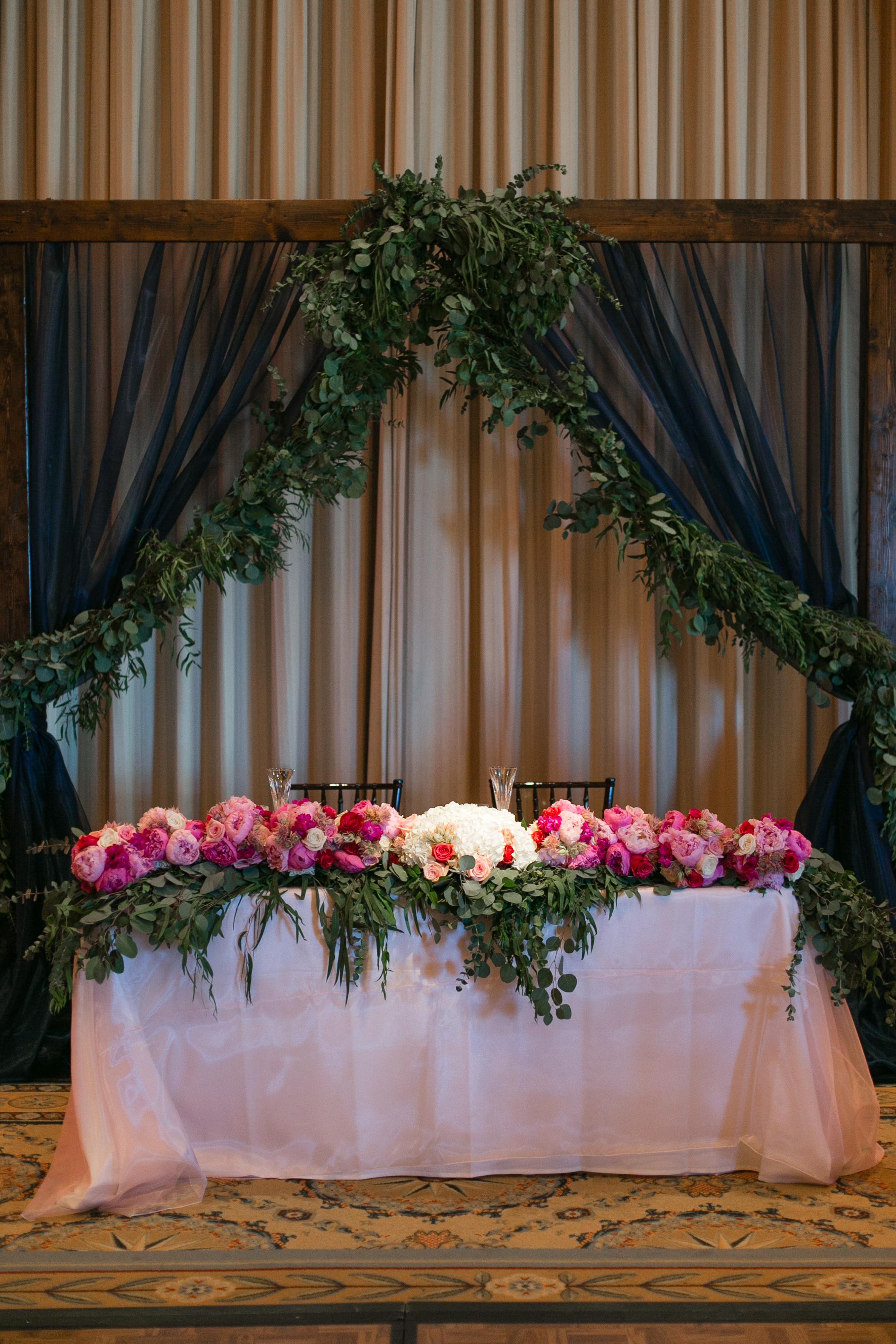 Bliss OKC | Aubrey Marie Photography | Wedding Reception | Gaillardia Country Club | Head Table