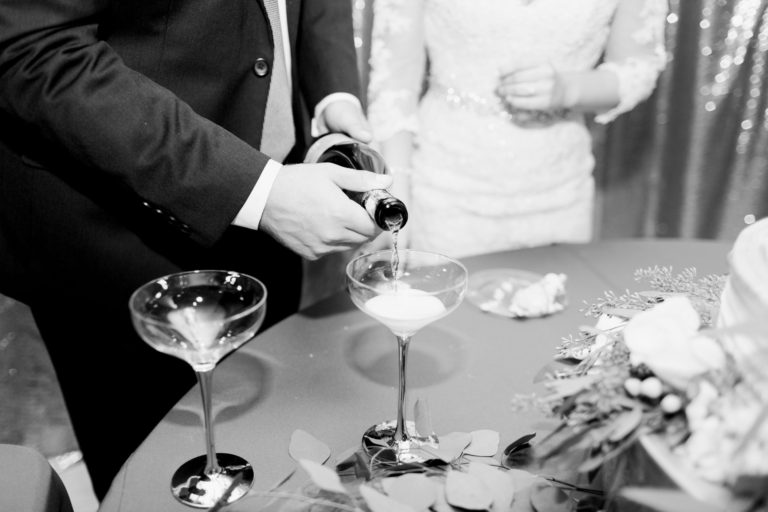 Magnolia Adams Photography | Wedding Reception | Champagne