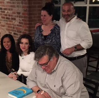 With Lisa Ko, Robin Homonoff, Boris Fishman, and David Leite in Providence, Rhode Island