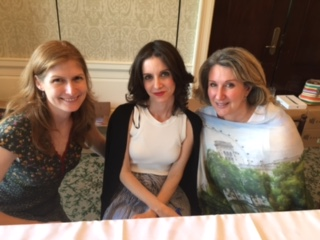 With Maile Meloy and Jane Green in Darien, Connecticut