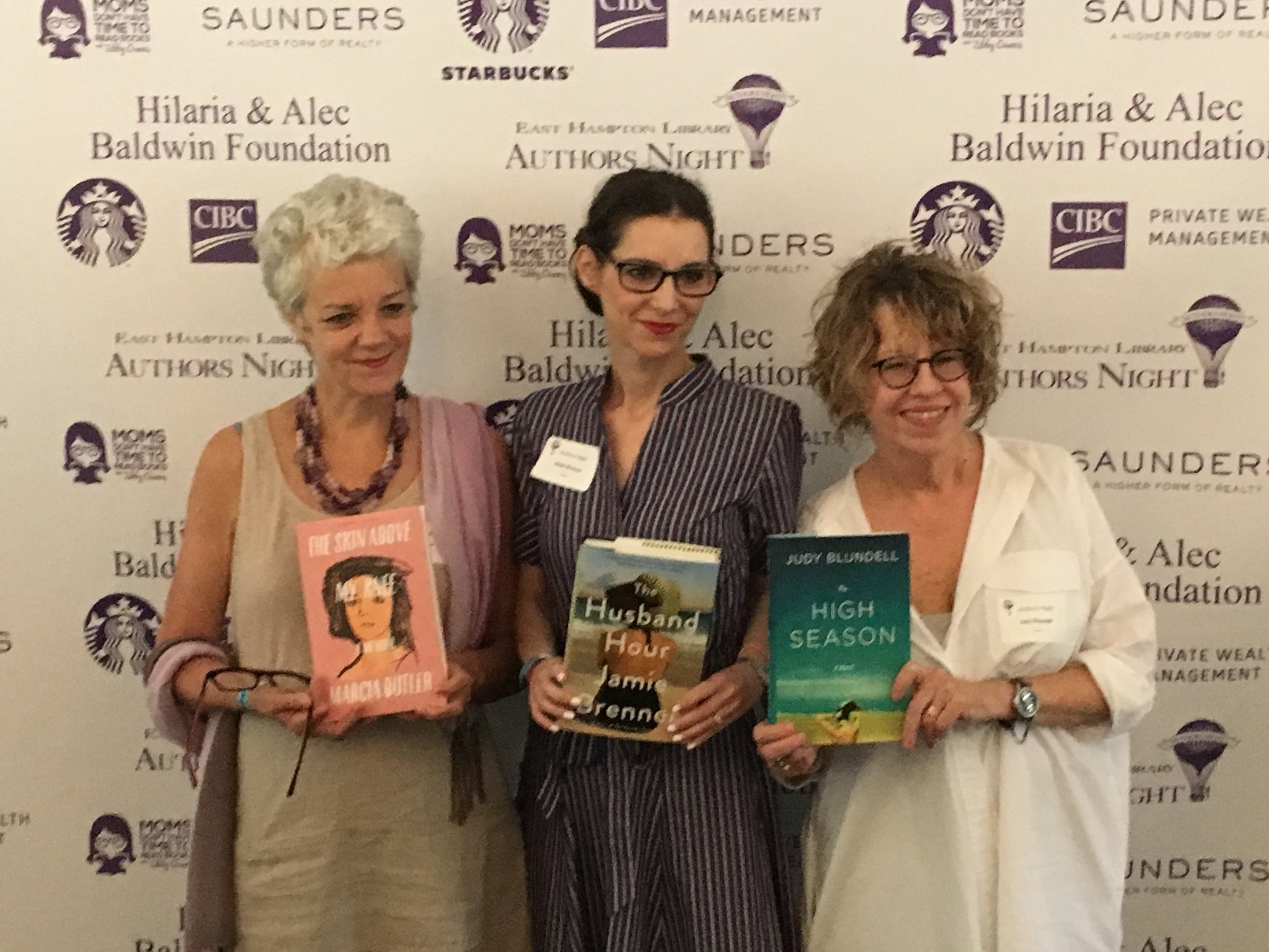 With my wonderful table mates Marcia Butler and Judy Blundell at Authors Night to benefit the East Hampton Library.