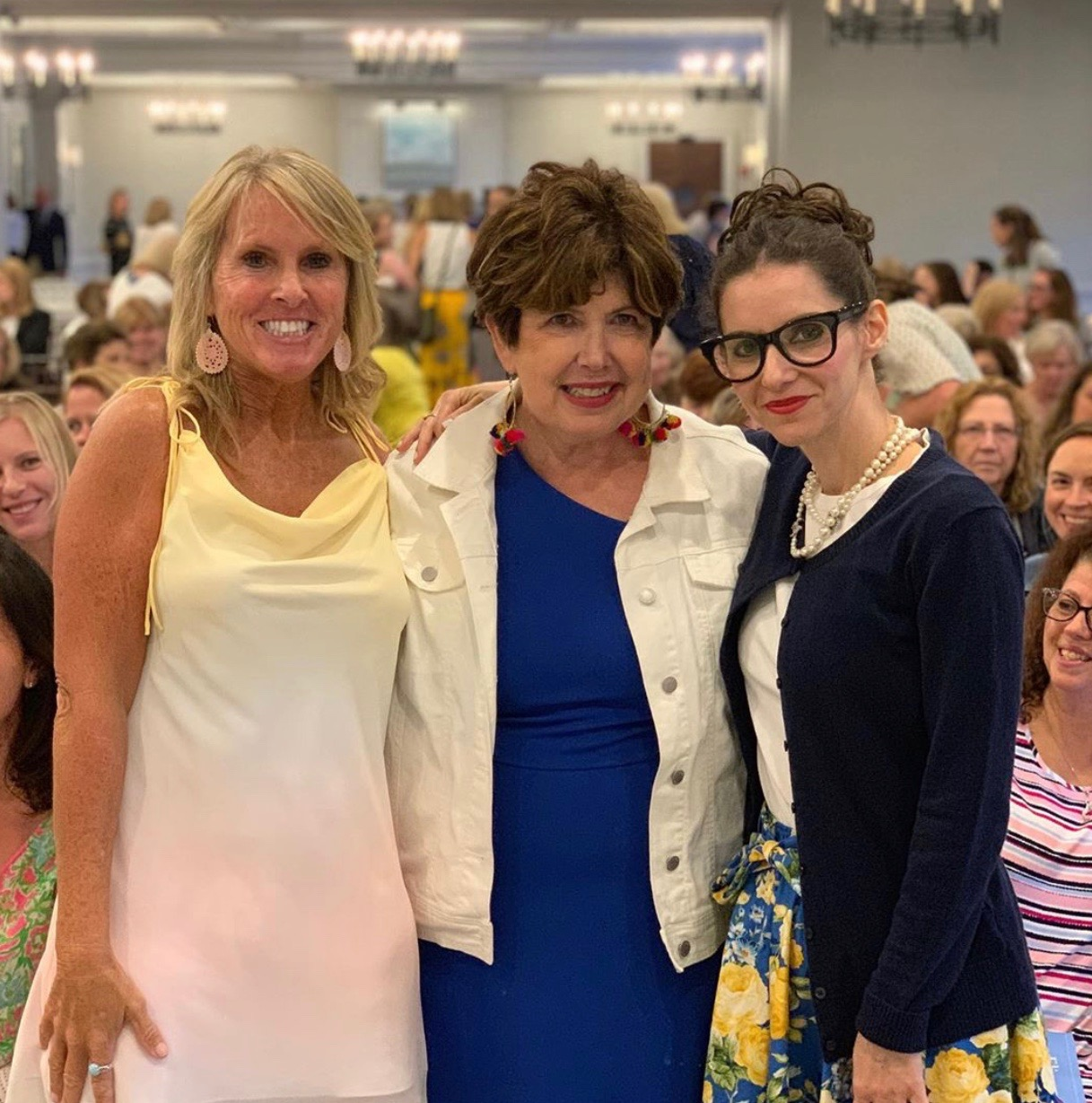 Dreams do come true! Me (right) at a book event with  Elin Hilderbrand  and Mary Kay Andrews hosted by Barrett Bookstore in June 2019.