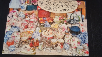 My husband and I made this puzzle in a weekend. It's only 500 pieces.