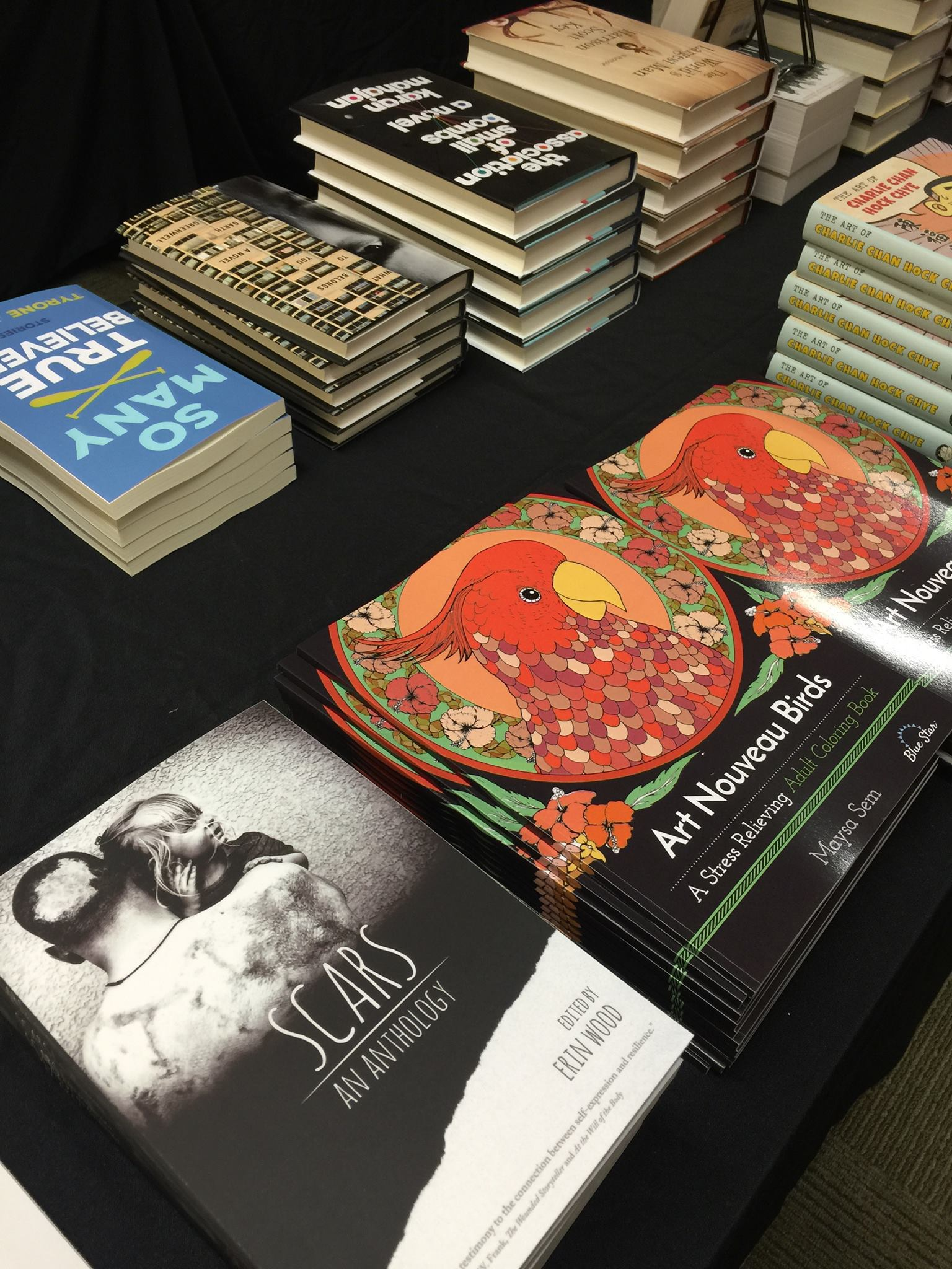 Scars  was in good company on the Main Library sales tables at the 2016 Arkansas Literary Festival.