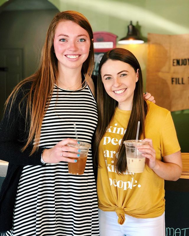 Hey y'all!  It's Tara and Jenna from High Point University.  We're here at our favorite coffee shop in High Point, and can't wait to find another gem in Cherry Grove!  We're excited to meet you all and grow deeper in our faith.  T-24 days!!