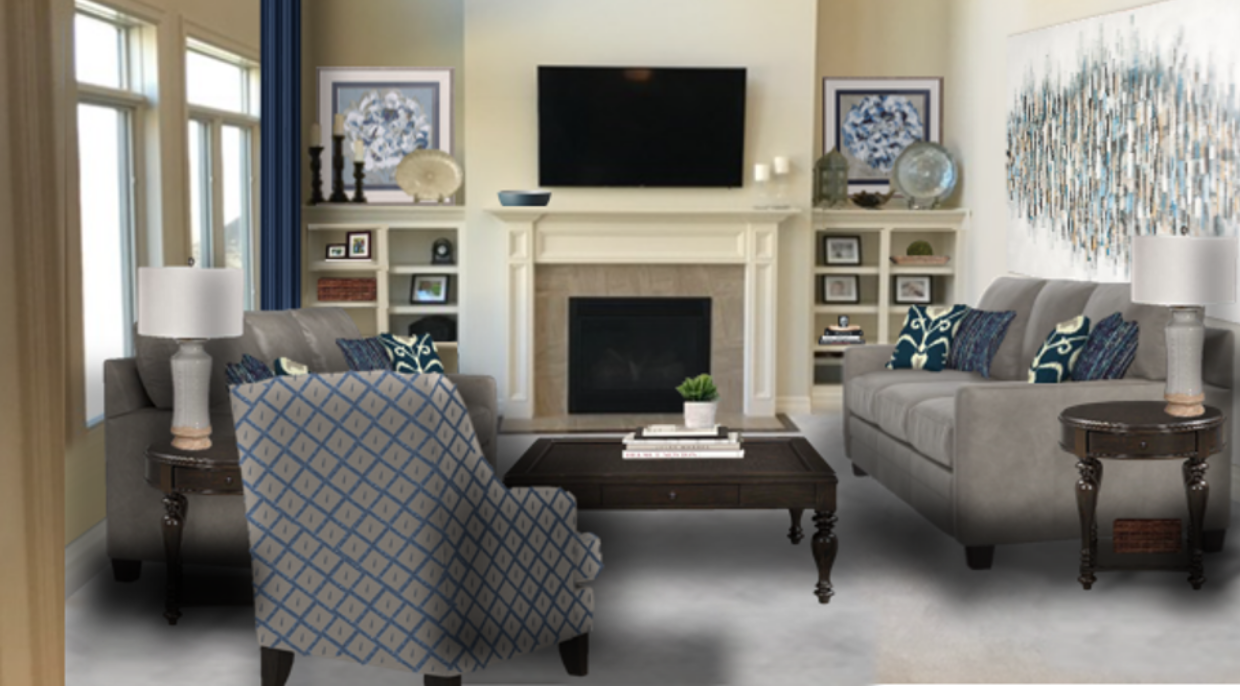 michaelhelwiginteriors.com online interior e-design modern traditional formal family room