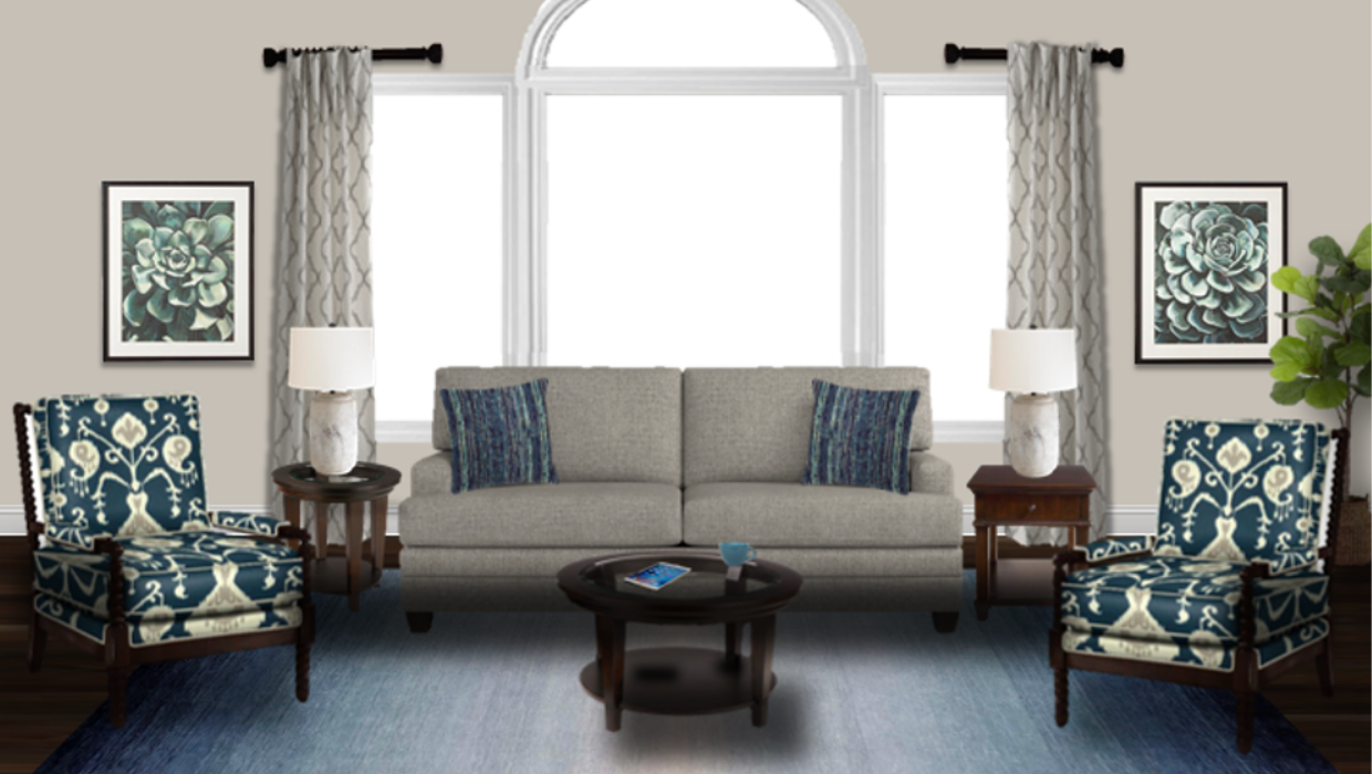 michaelhelwiginteriors.com online interior e-design traditional blue and gray morning room